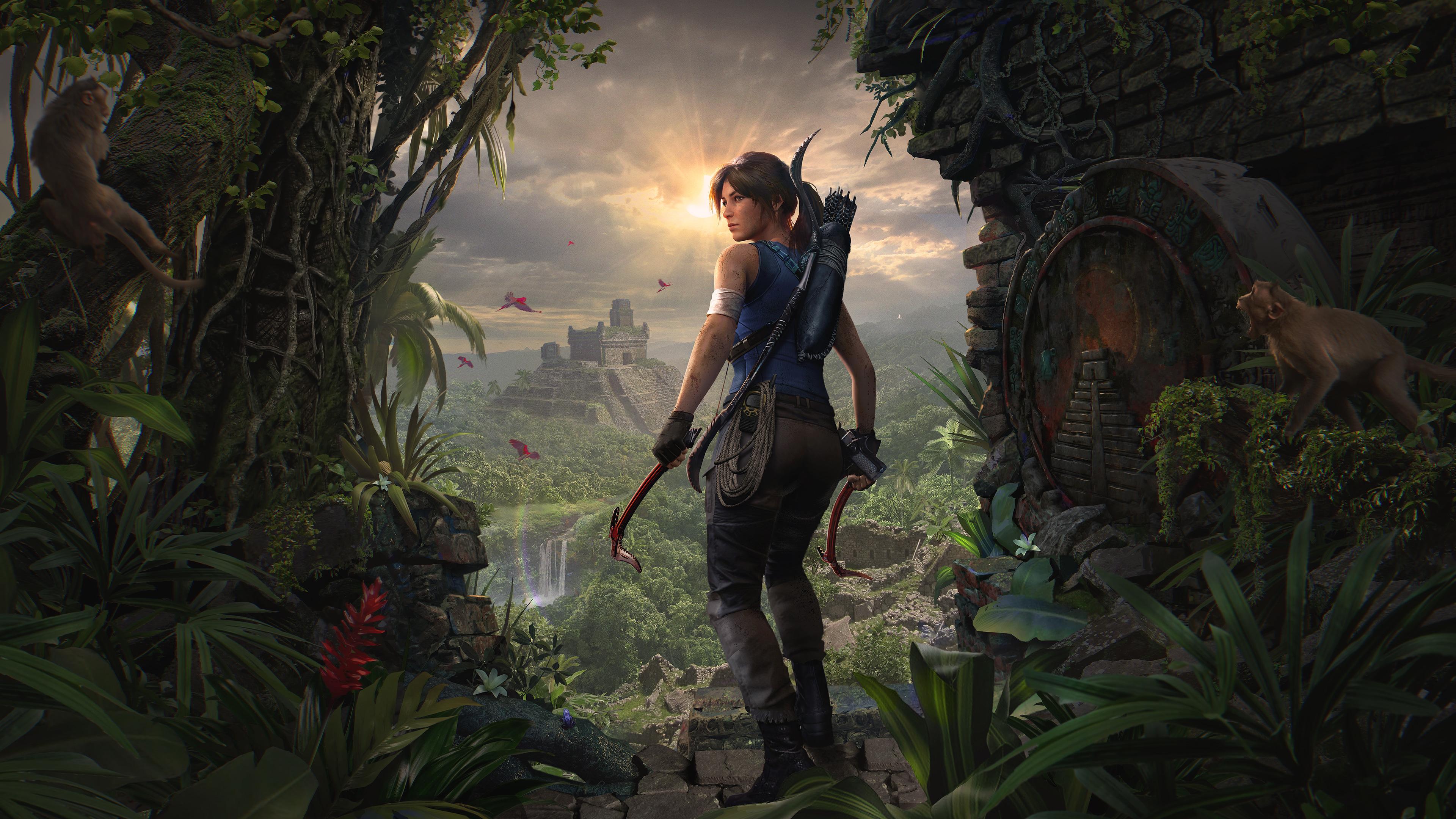 Wallpaper Lara Croft Shadow Of The Tomb Raider Tomb