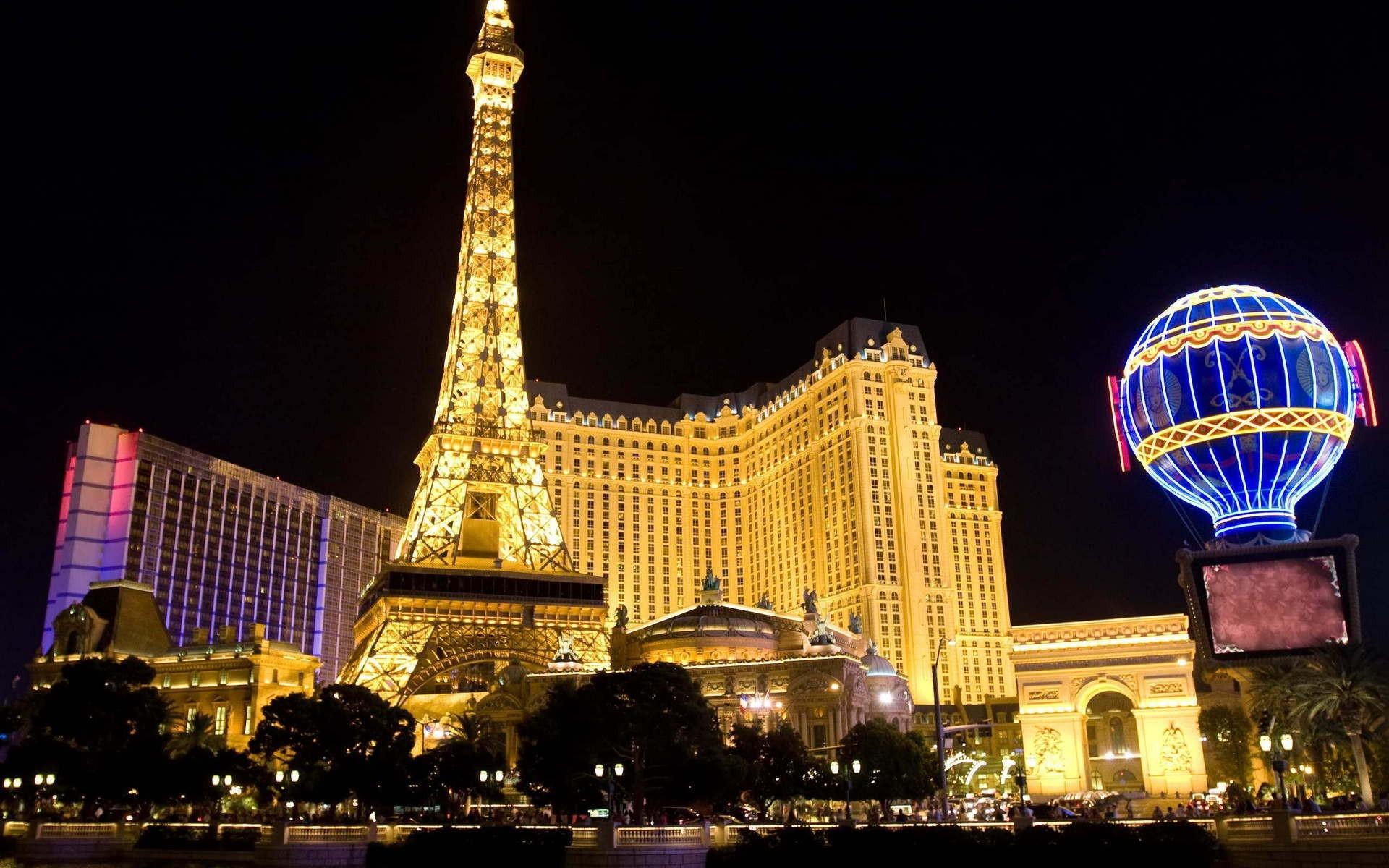 Wallpaper Las Vegas Buildings Night Lights City 1920x1200