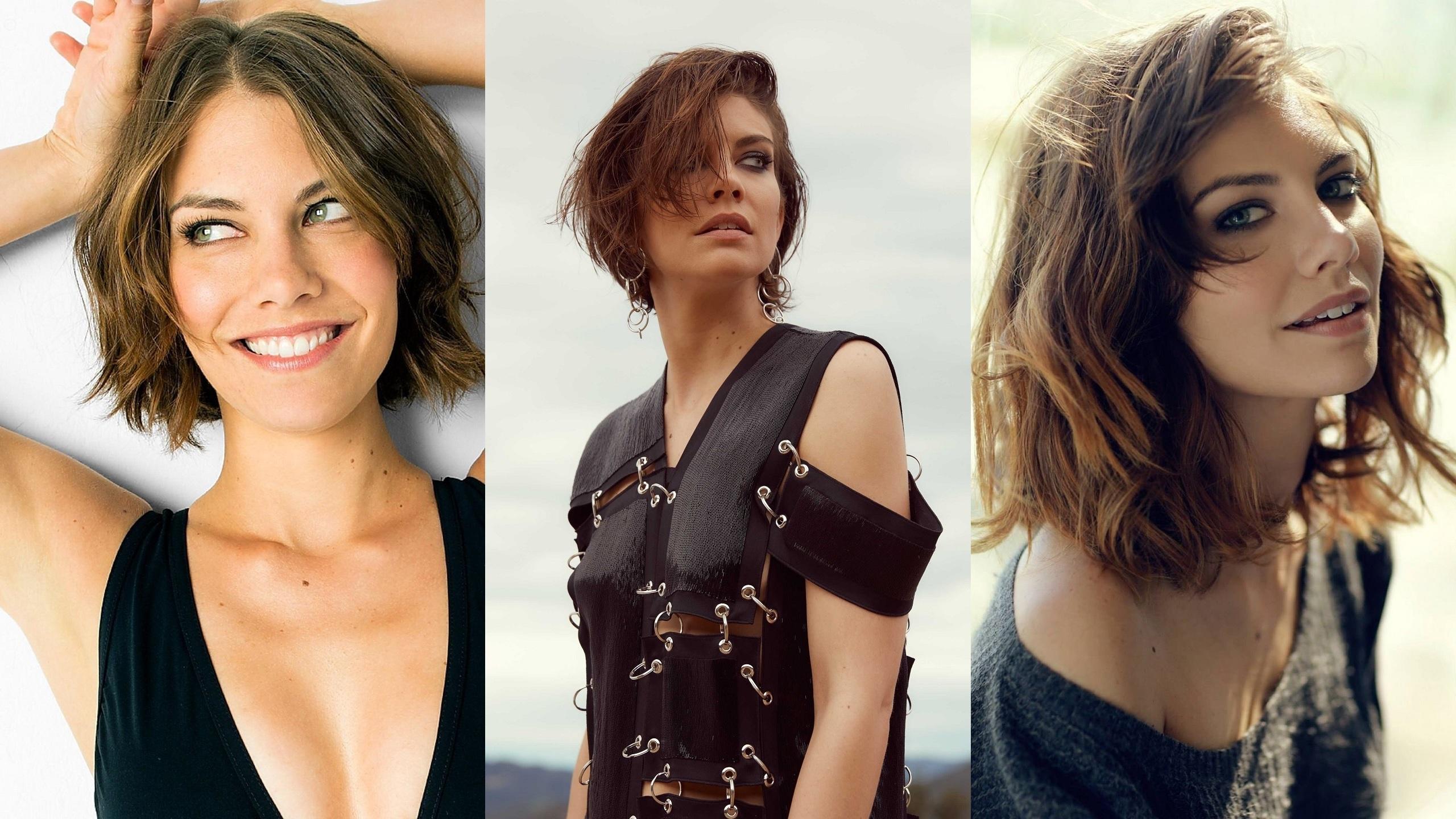 Wallpaper Lauren Cohan Actress Brunette Looking At Viewer Green Eyes Short Hair Collage 2560x1440 Harleypool1450 1221468 Hd Wallpapers Wallhere