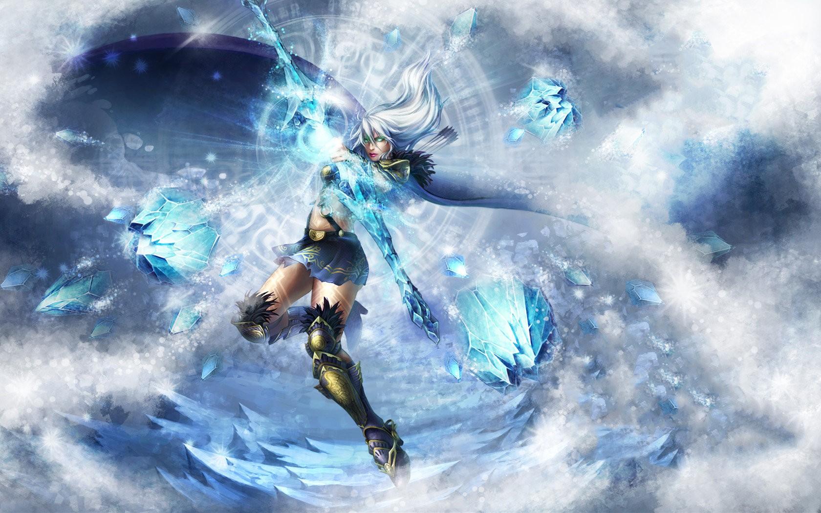 Wallpaper League Of Legends Blue Ashe Screenshot