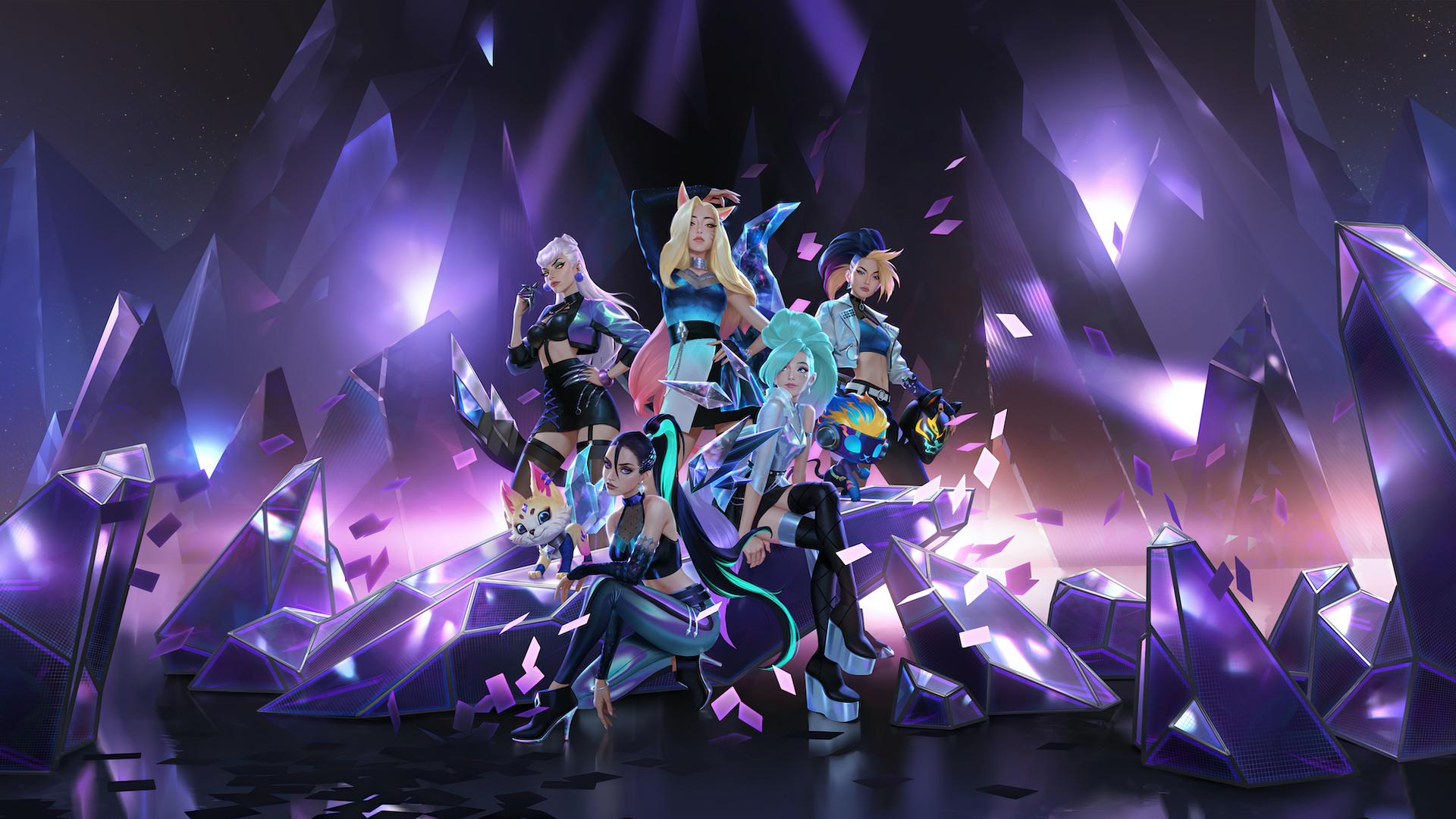 Wallpaper : League of Legends, kda, Riot Games, Ahri ...