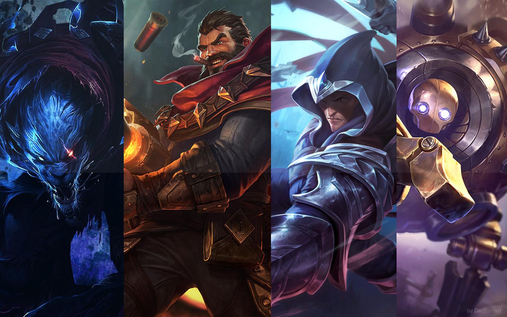 Wallpaper League Of Legends Superhero Grave Rengar
