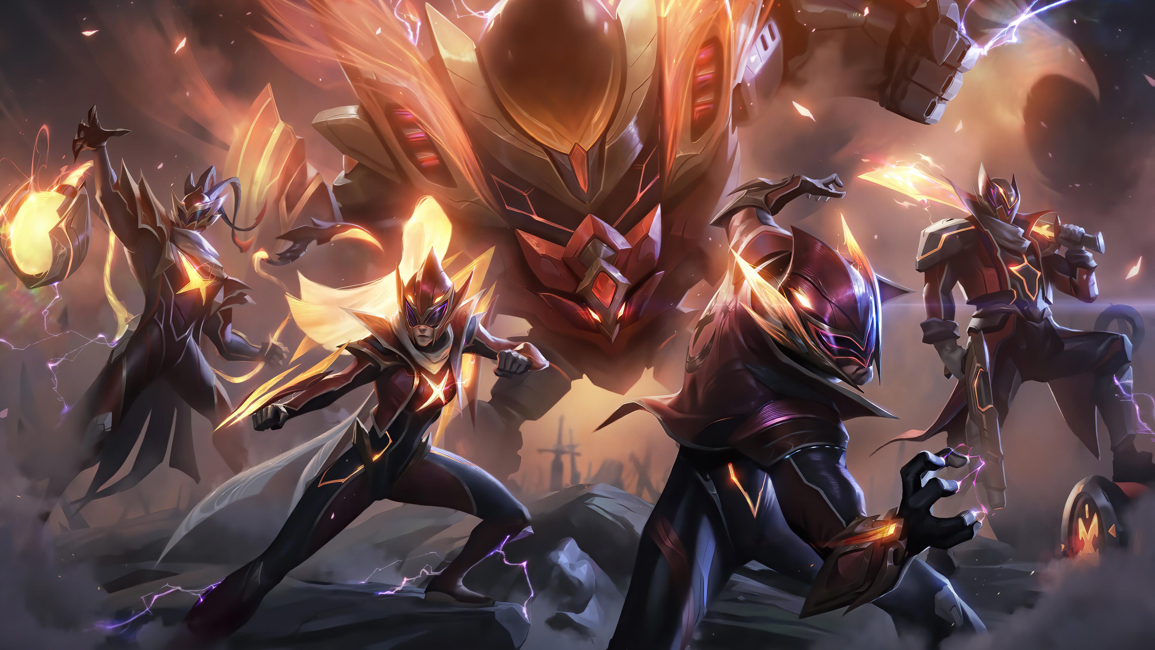 Wallpaper Lee Sin Lee Sin League Of Legends Vayne League Of