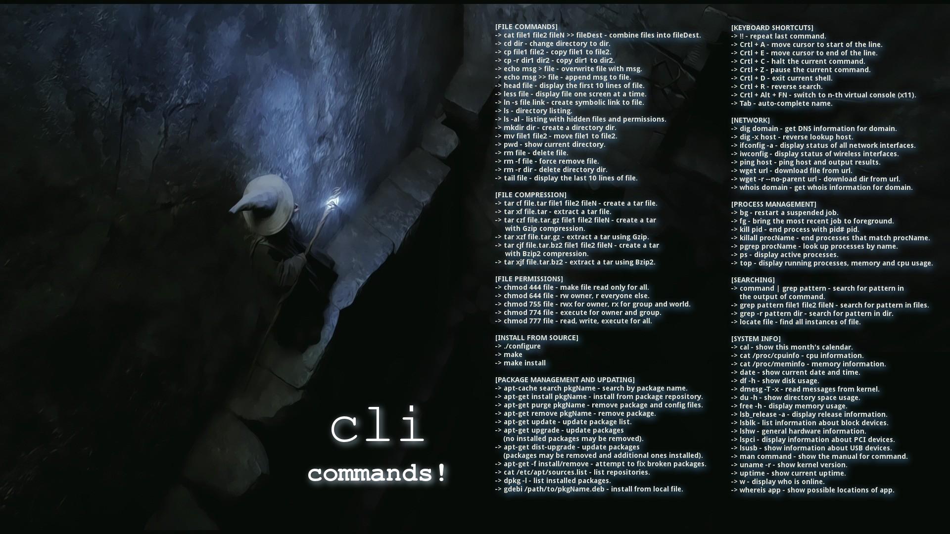 Wallpaper : command lines, Ubuntu, Gandalf, Debian, Unix