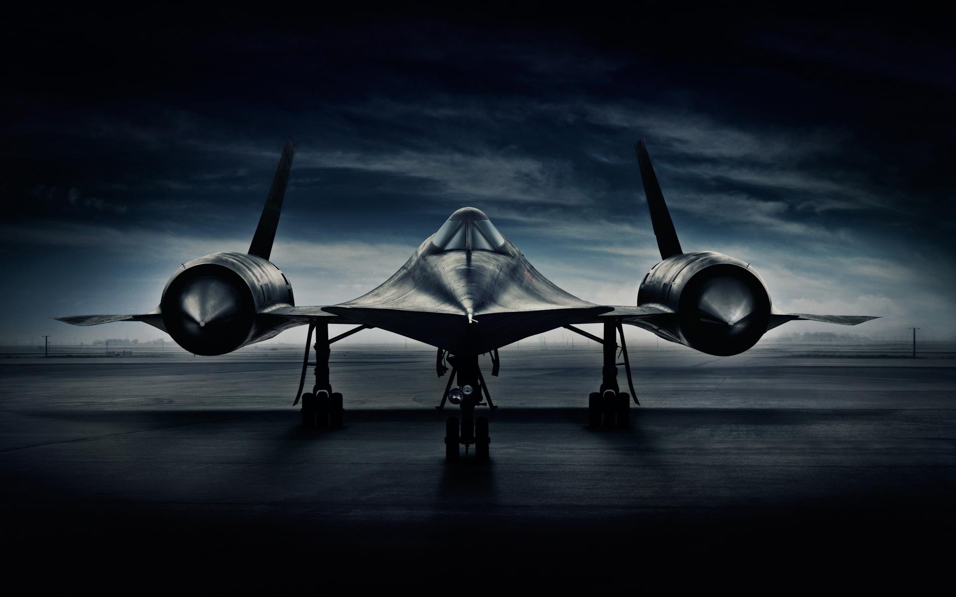 Wallpaper Lockheed Sr 71 Blackbird Airplane Military