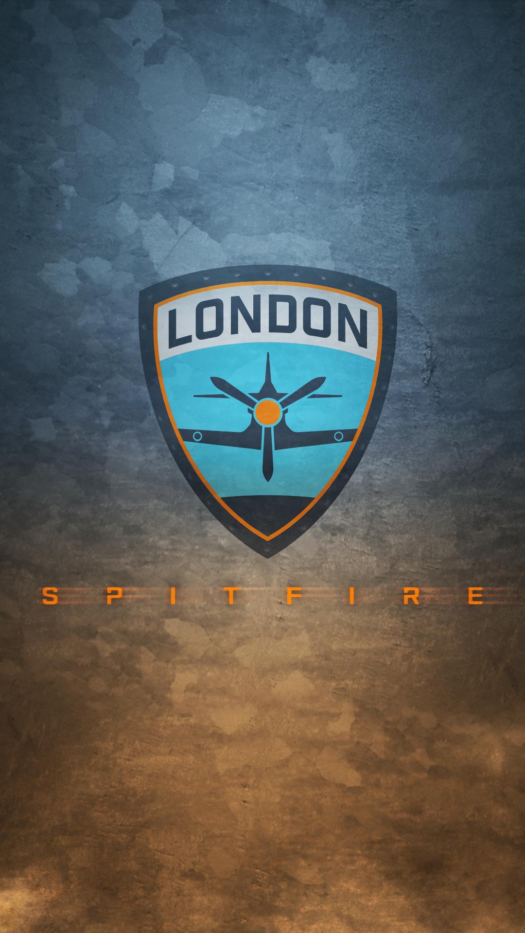 Wallpaper London Spitfire Overwatch League E Sports 1080x1920