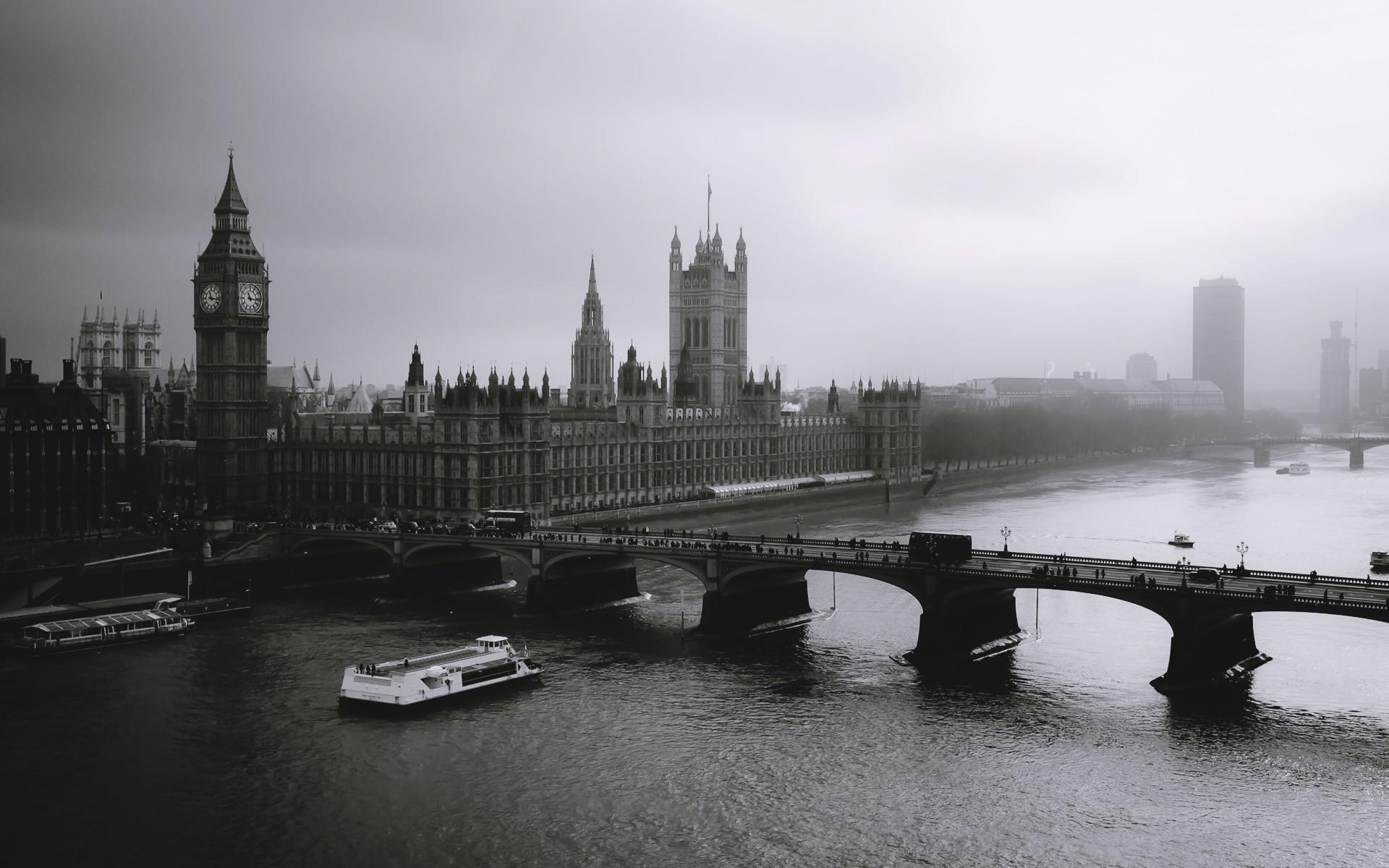 Wallpaper London City Cityscape Architecture Water