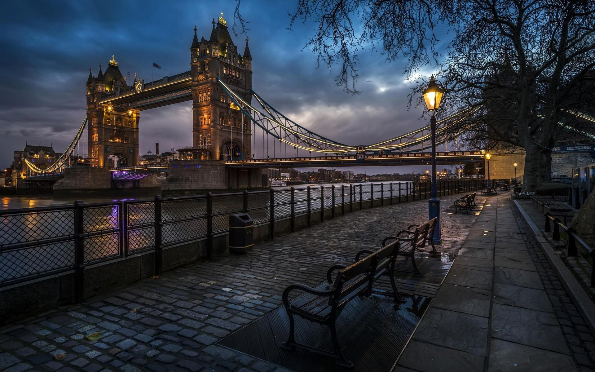 Wallpaper London Street Light City Cityscape Night