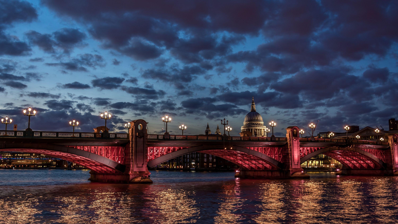 デスクトップ壁紙 ロンドン 日没 シティ 都市景観 反射 空