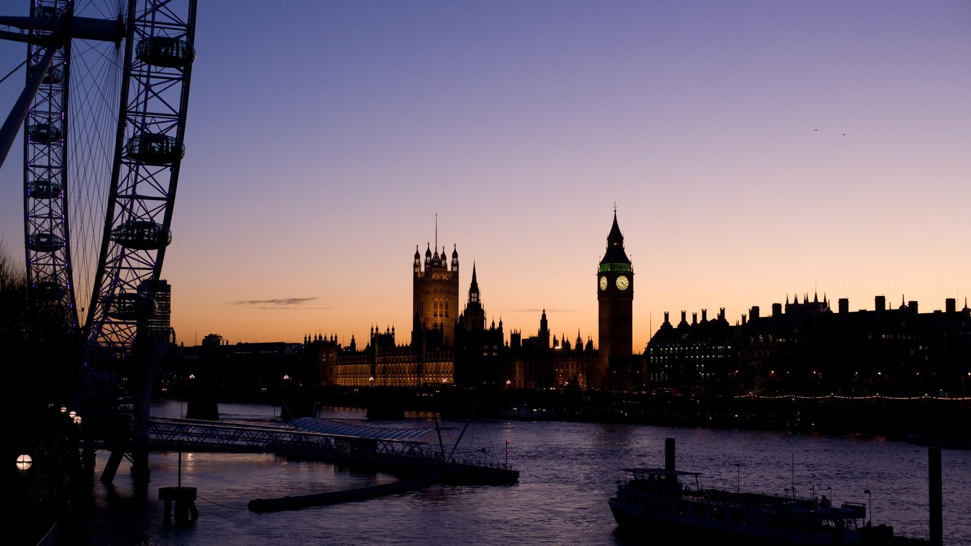 Обои dusk, at, london. Города foto 19