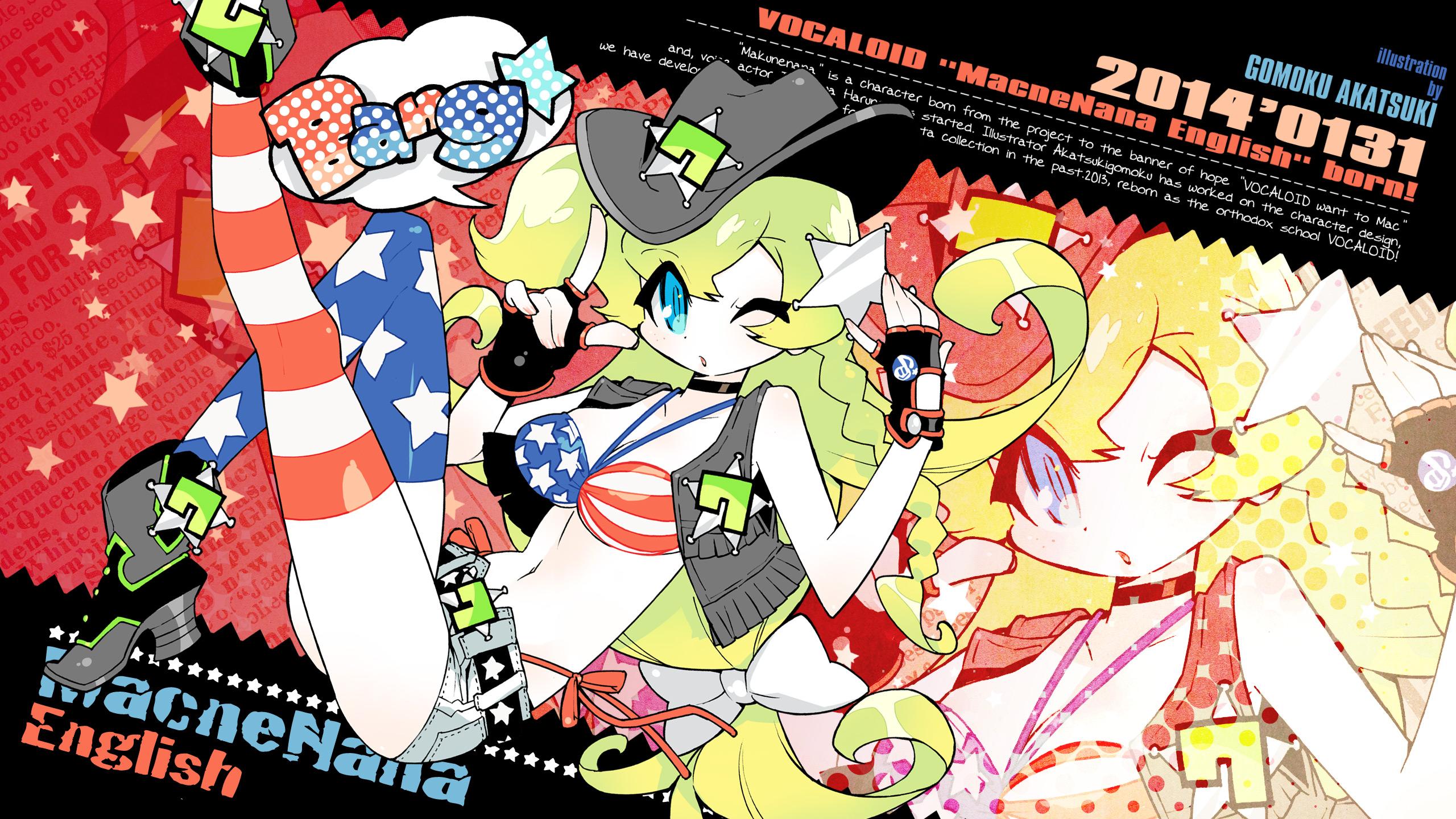 Wallpaper Macloid Vocaloid Gomoku Akatsuki 2560x1440 Images, Photos, Reviews
