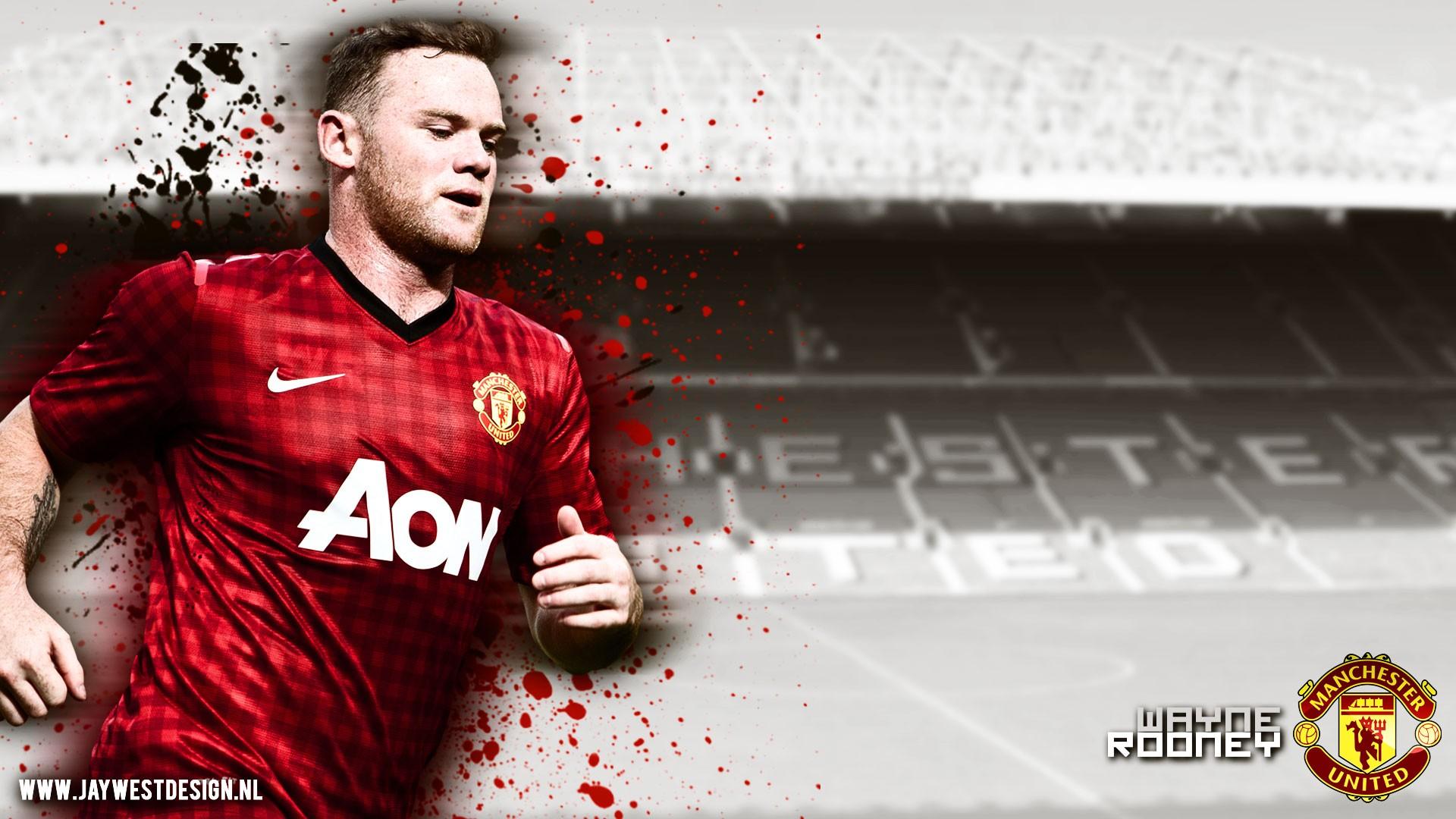 Wallpaper Manchester United Wayne Rooney Pemain Sepak