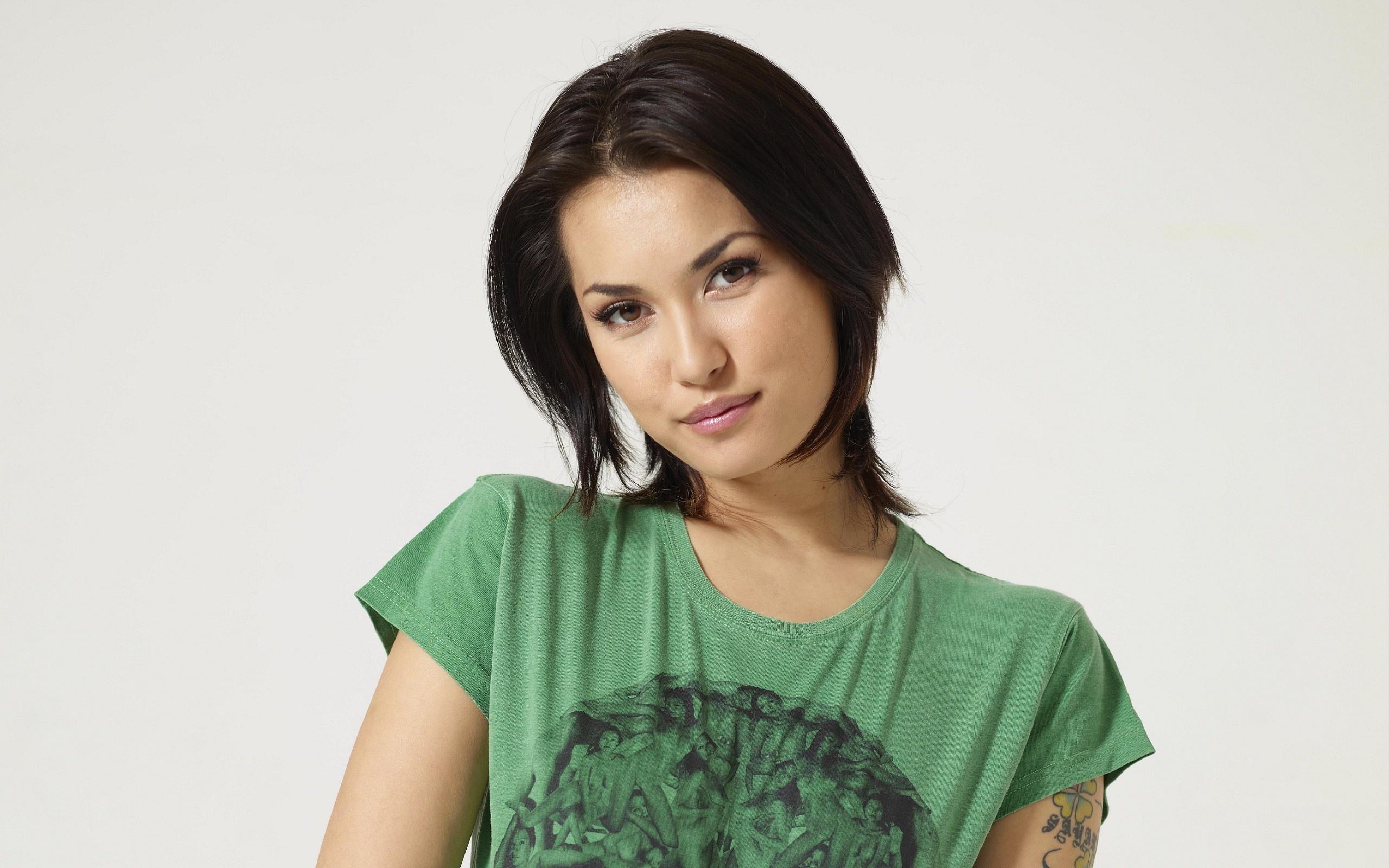 Wallpaper Maria Ozawa Asian White Background T Shirt Short