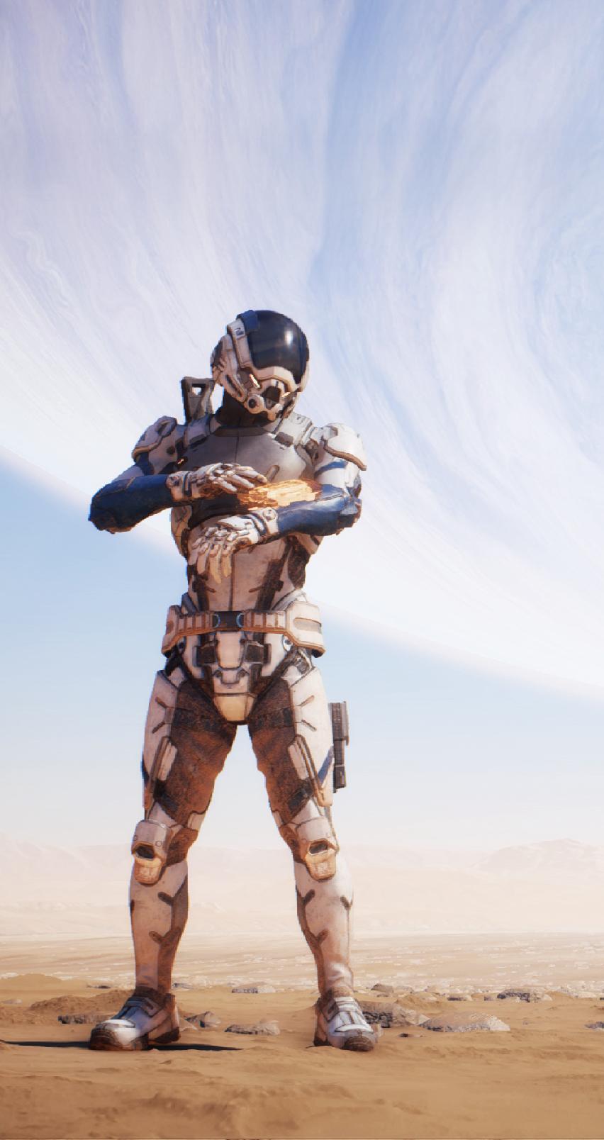 Wallpaper Mass Effect Andromeda Bioware Phone