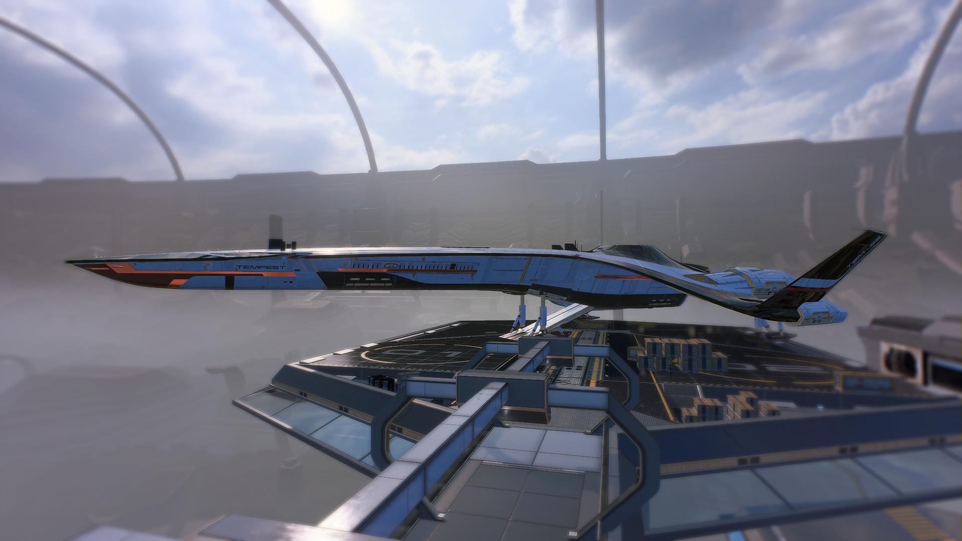 Wallpaper Mass Effect Andromeda Spaceship Tempest Mass Effect