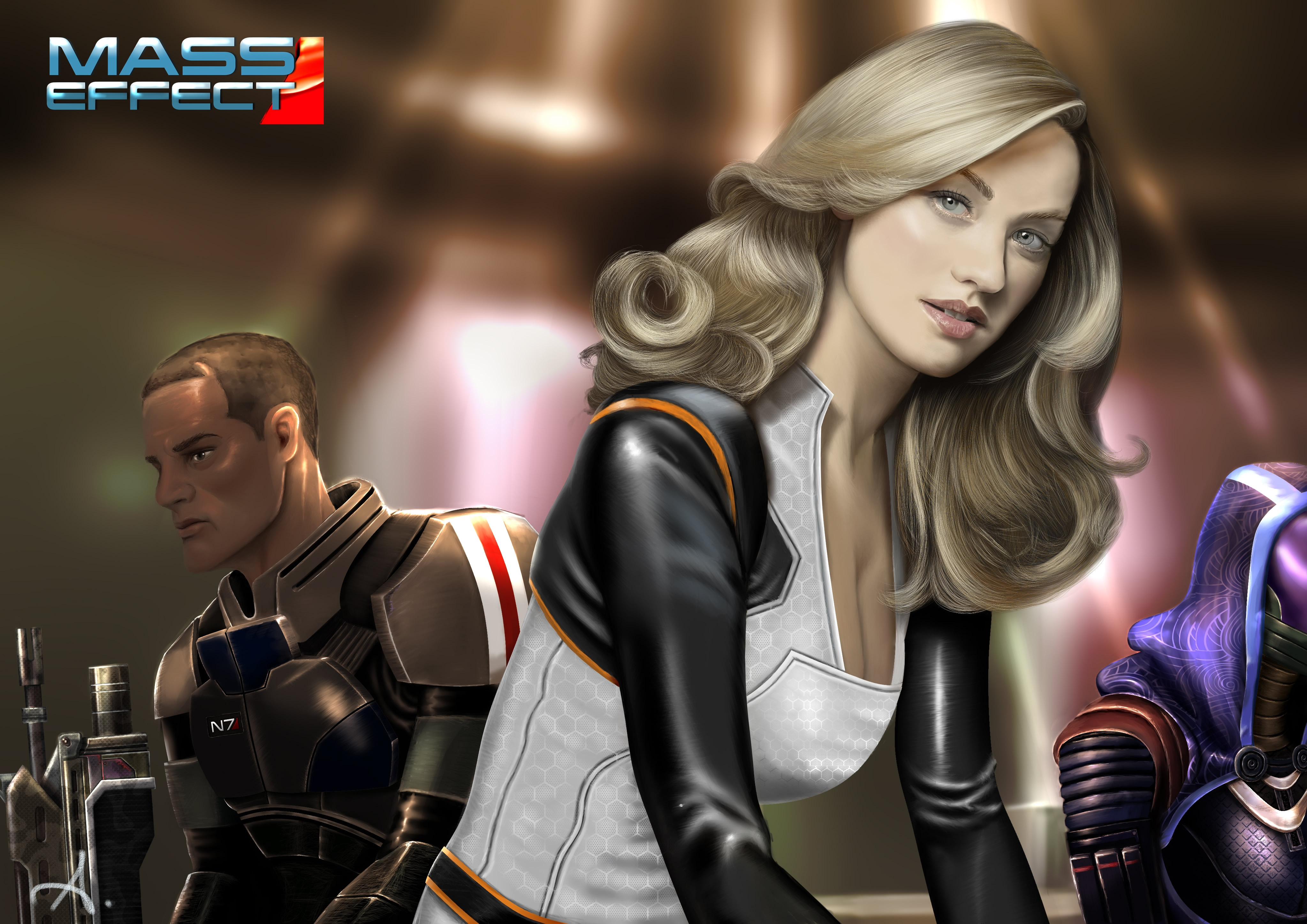 Wallpaper : Mass Effect, Yvonne Strahovski, fan art ...