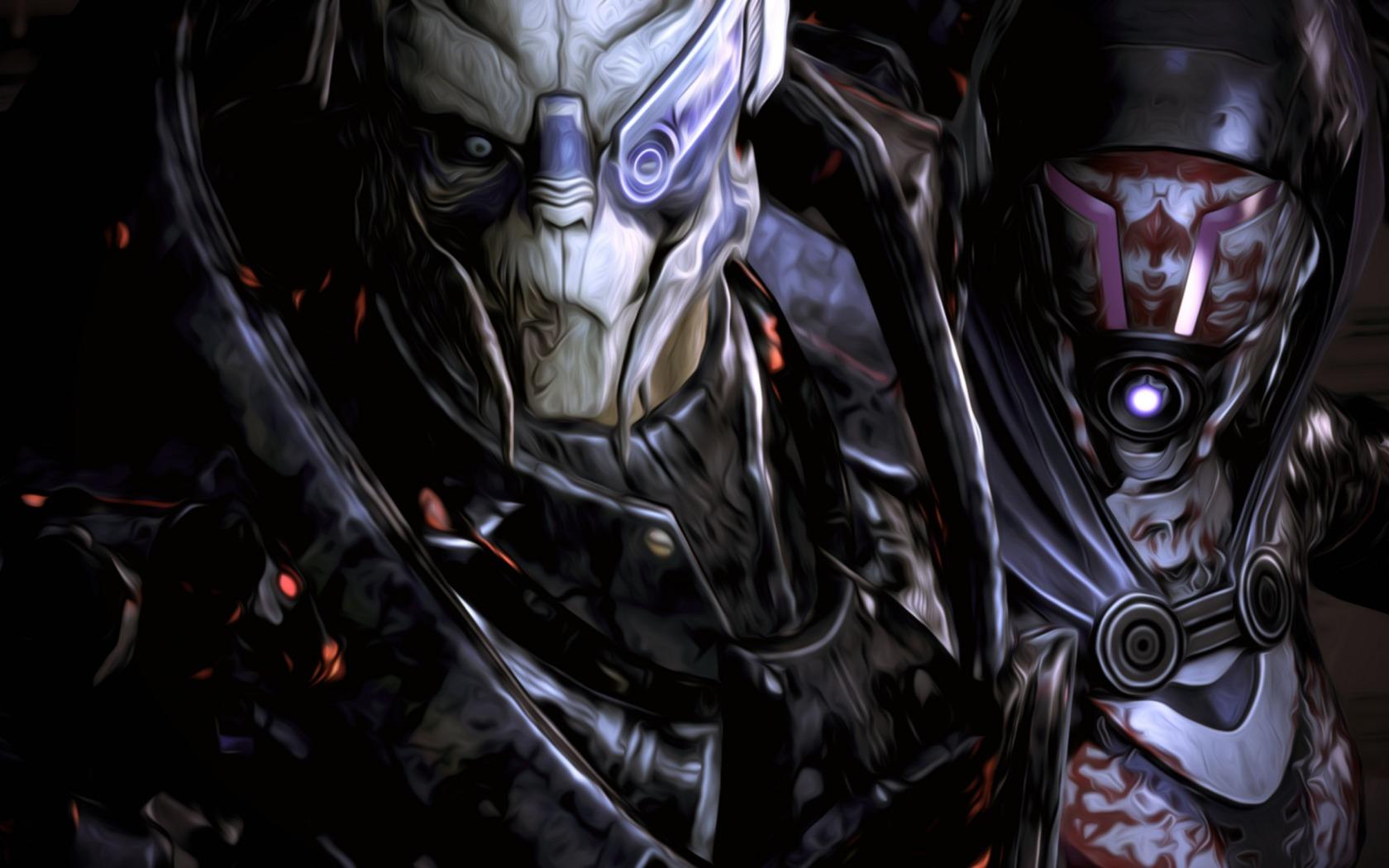 Wallpaper Mass Effect Comics Garrus Darkness