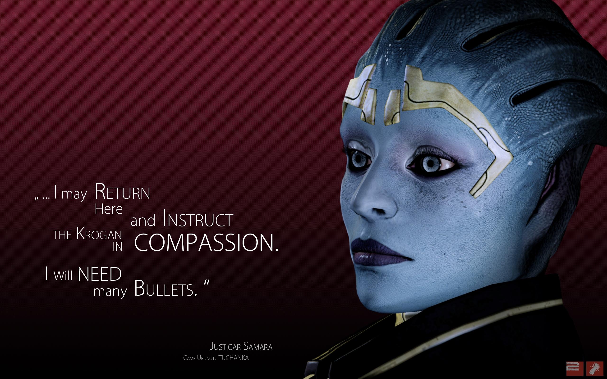 Wallpaper Mass Effect Justicar Samara Quote Look Character