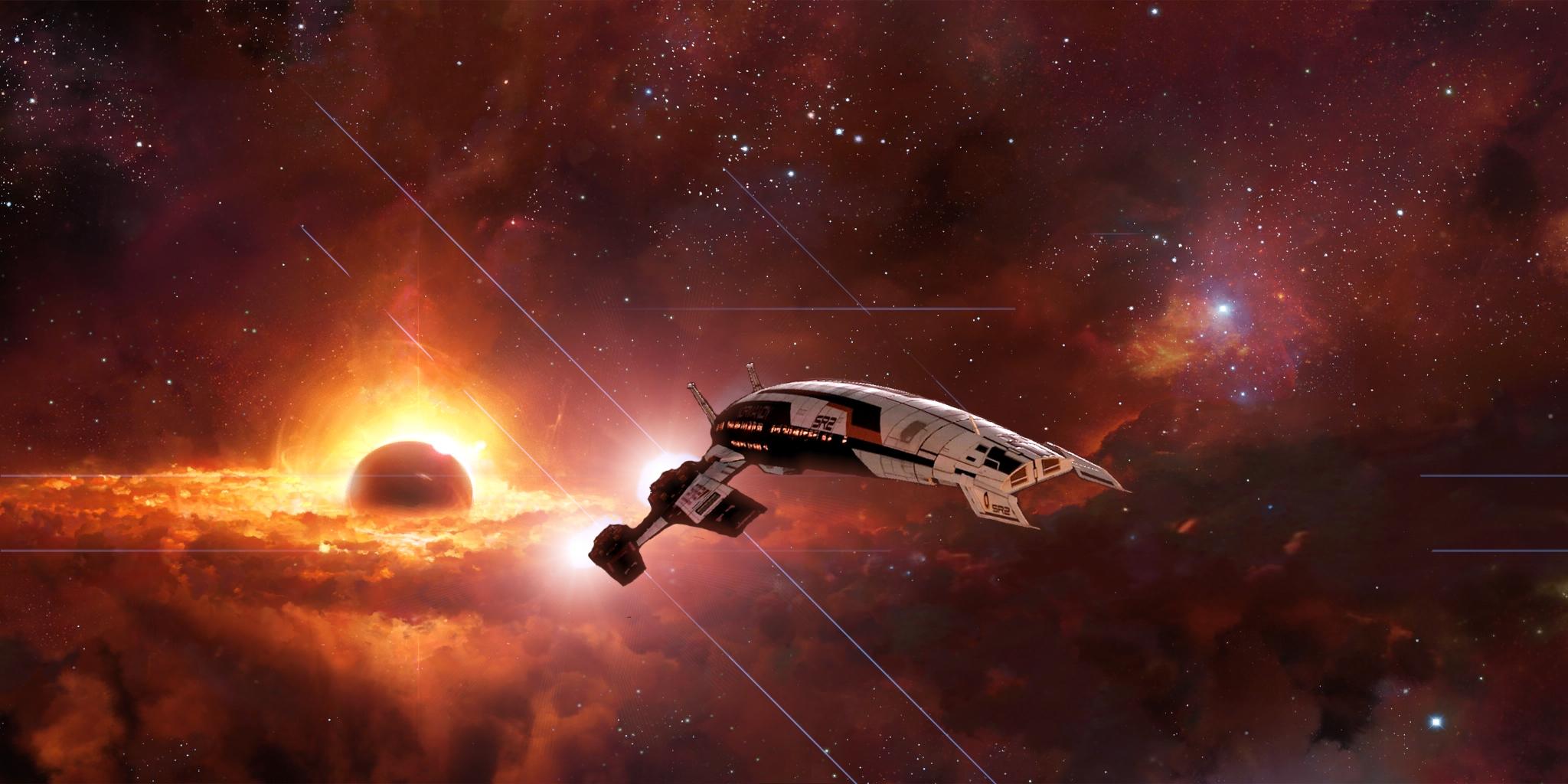 Wallpaper Mass Effect Normandy Space Nebula Stars