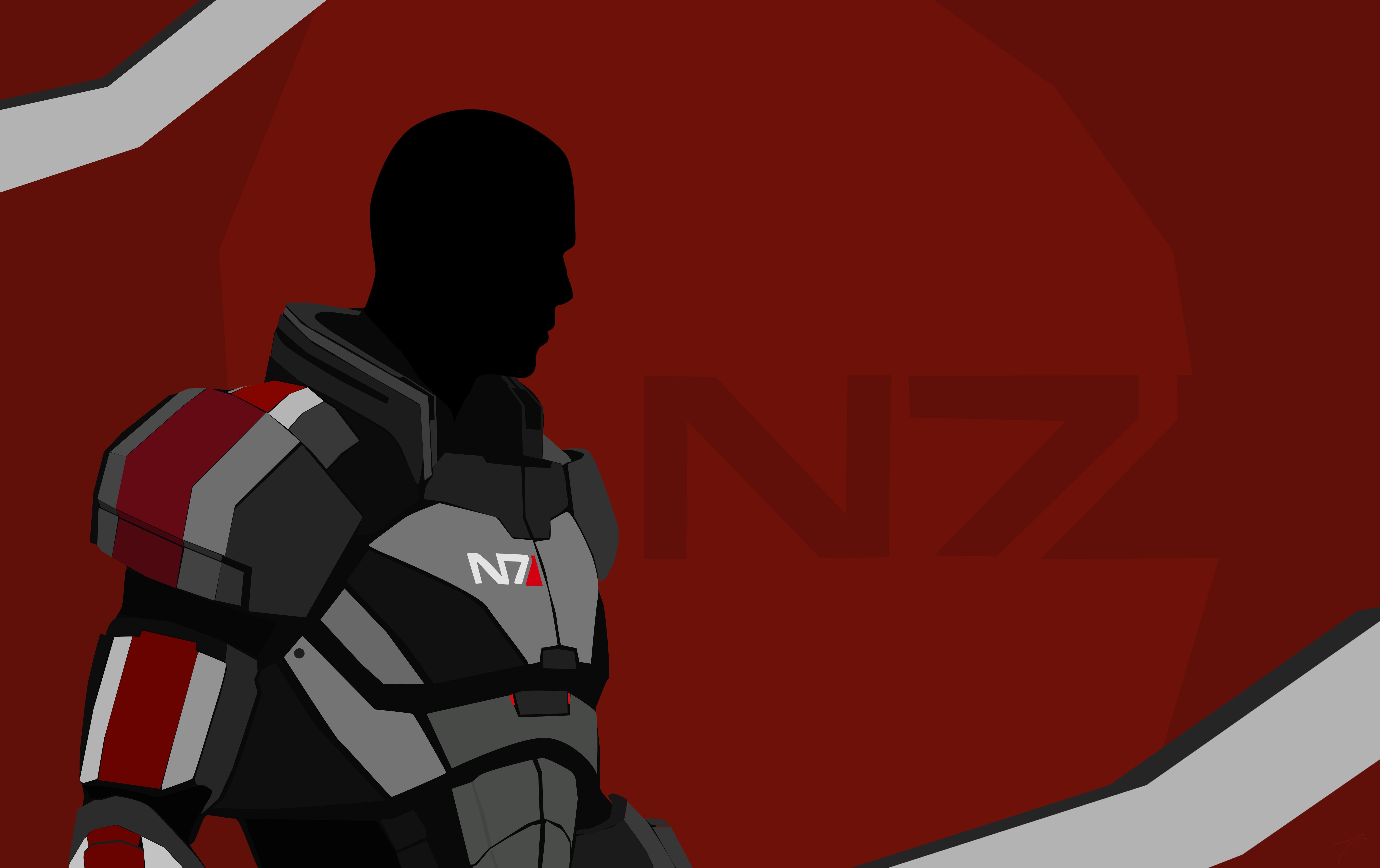 Wallpaper Mass Effect Video Games N7 6240x3925