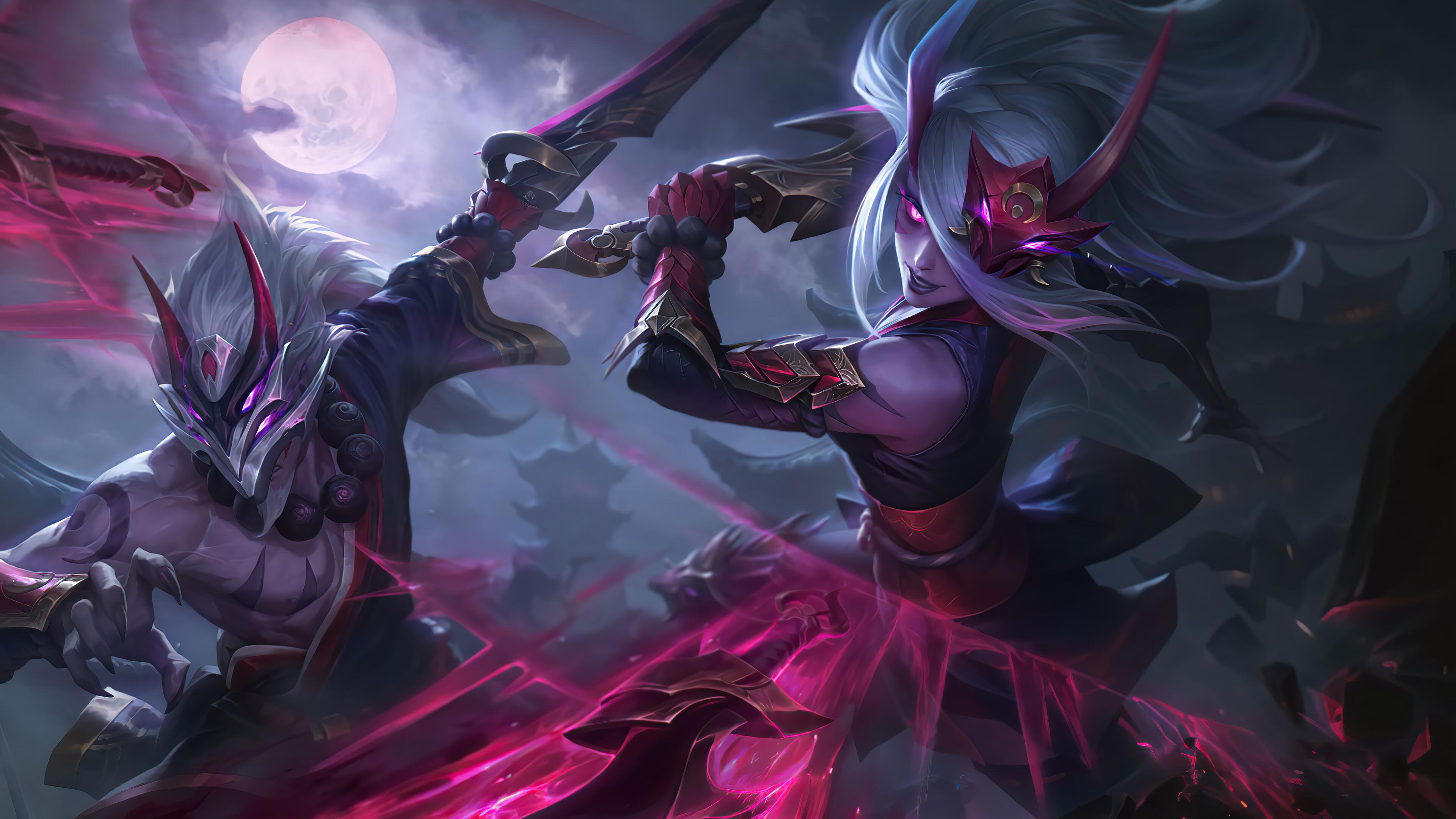 Wallpaper Master Yi Blood Moon Blood Moon League Of Legends