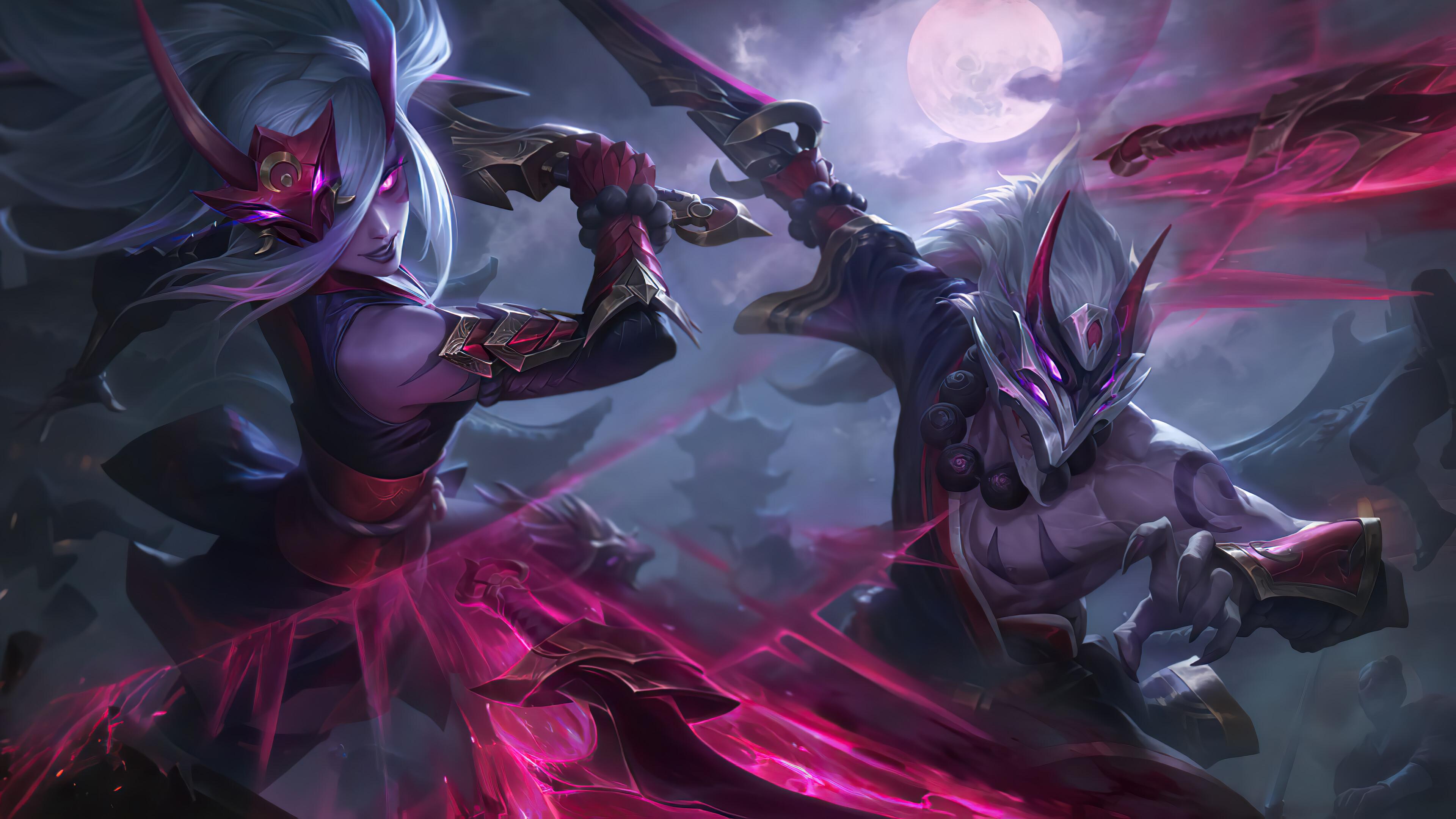 Wallpaper Master Yi Blood Moon League Of Legends Riot Games
