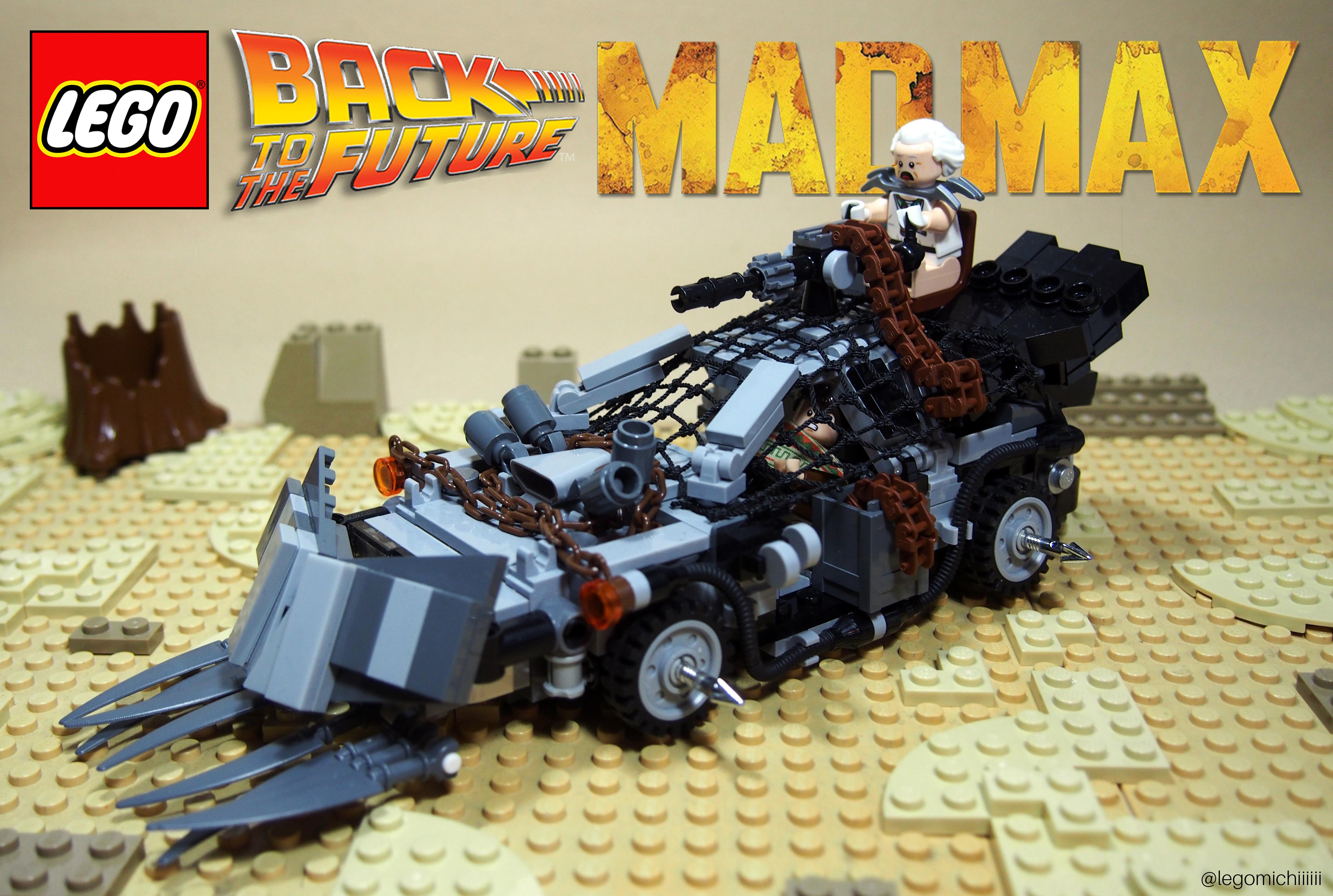 wallpaper : max, car, back, lego, bttf, future, mad, delorean