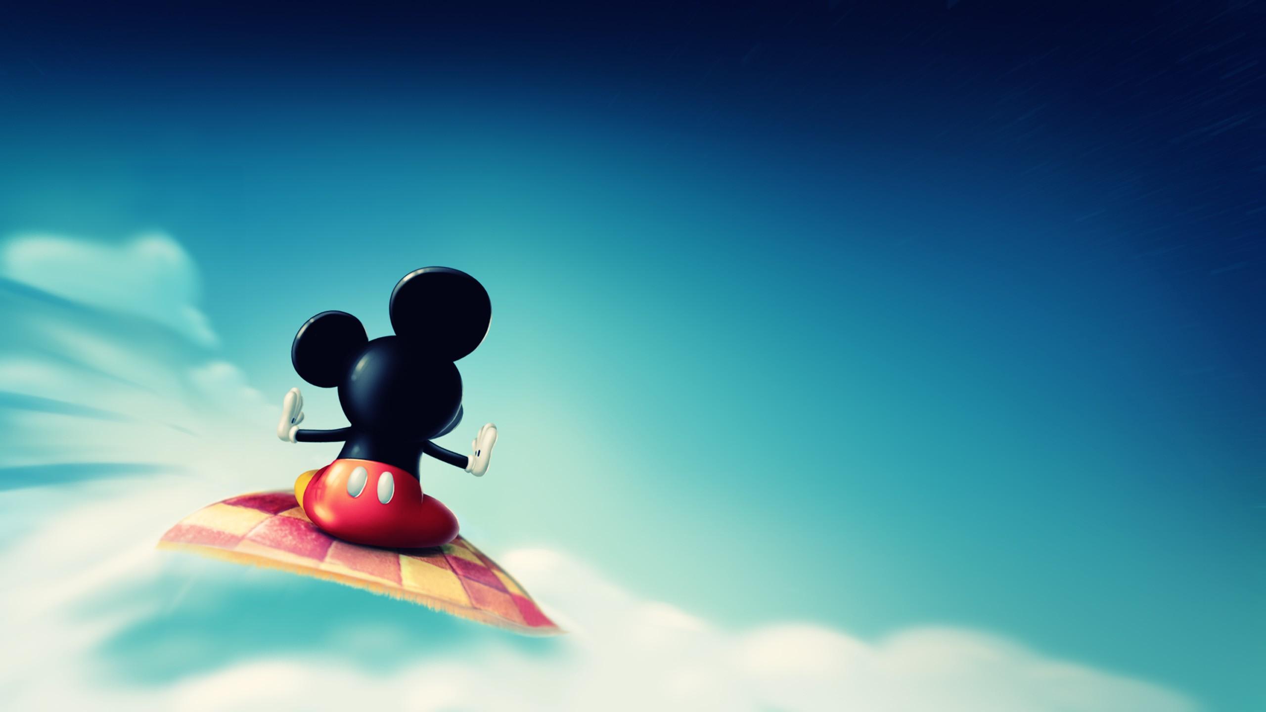 デスクトップ壁紙 ミッキーマウス 空 雲 青 ディズニー