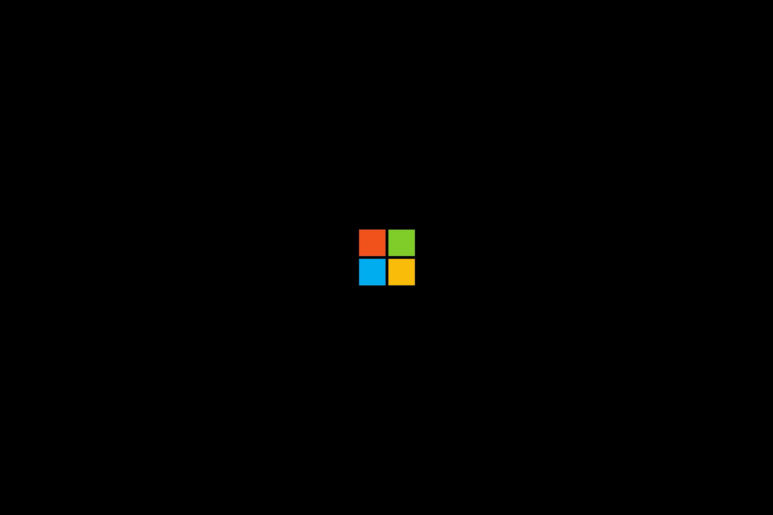 Wallpaper : Microsoft, brand, logo, minimalism 3240x2160 ...