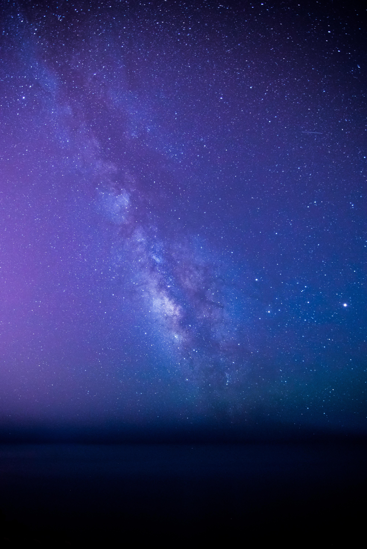 Wallpaper Milky Way Stars Starry Sky 3867x5792