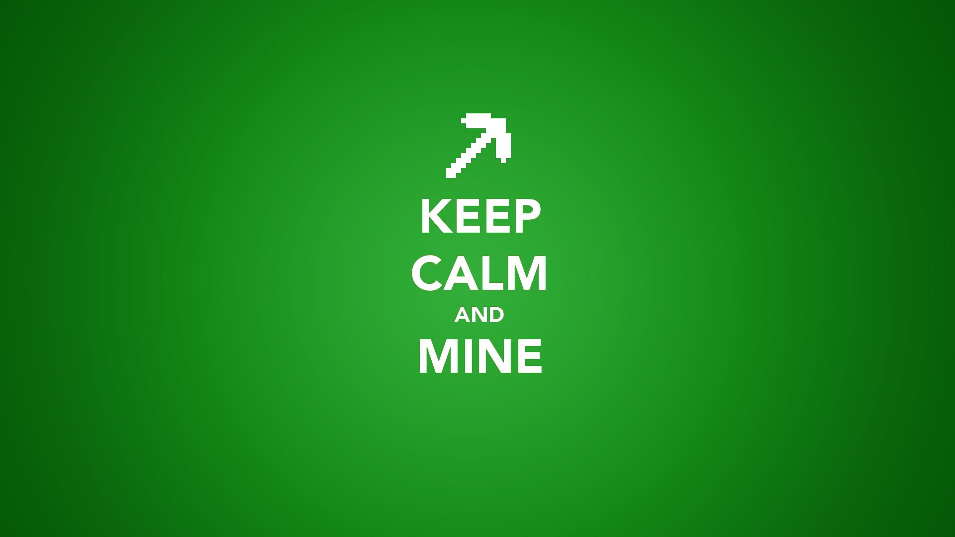 Wallpaper : Minecraft, Keep Calm and