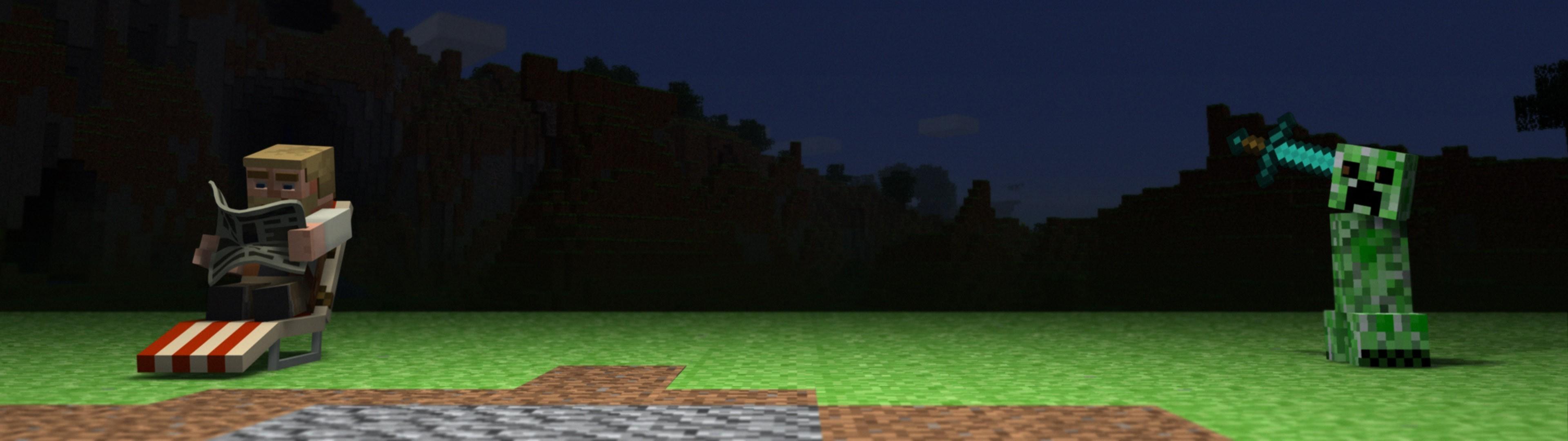 デスクトップ壁紙 マインクラフト 地形 ゲーム スクリーンショット 3840x1080 Px 生態系 3840x1080 Wallhaven デスクトップ壁紙 Wallhere
