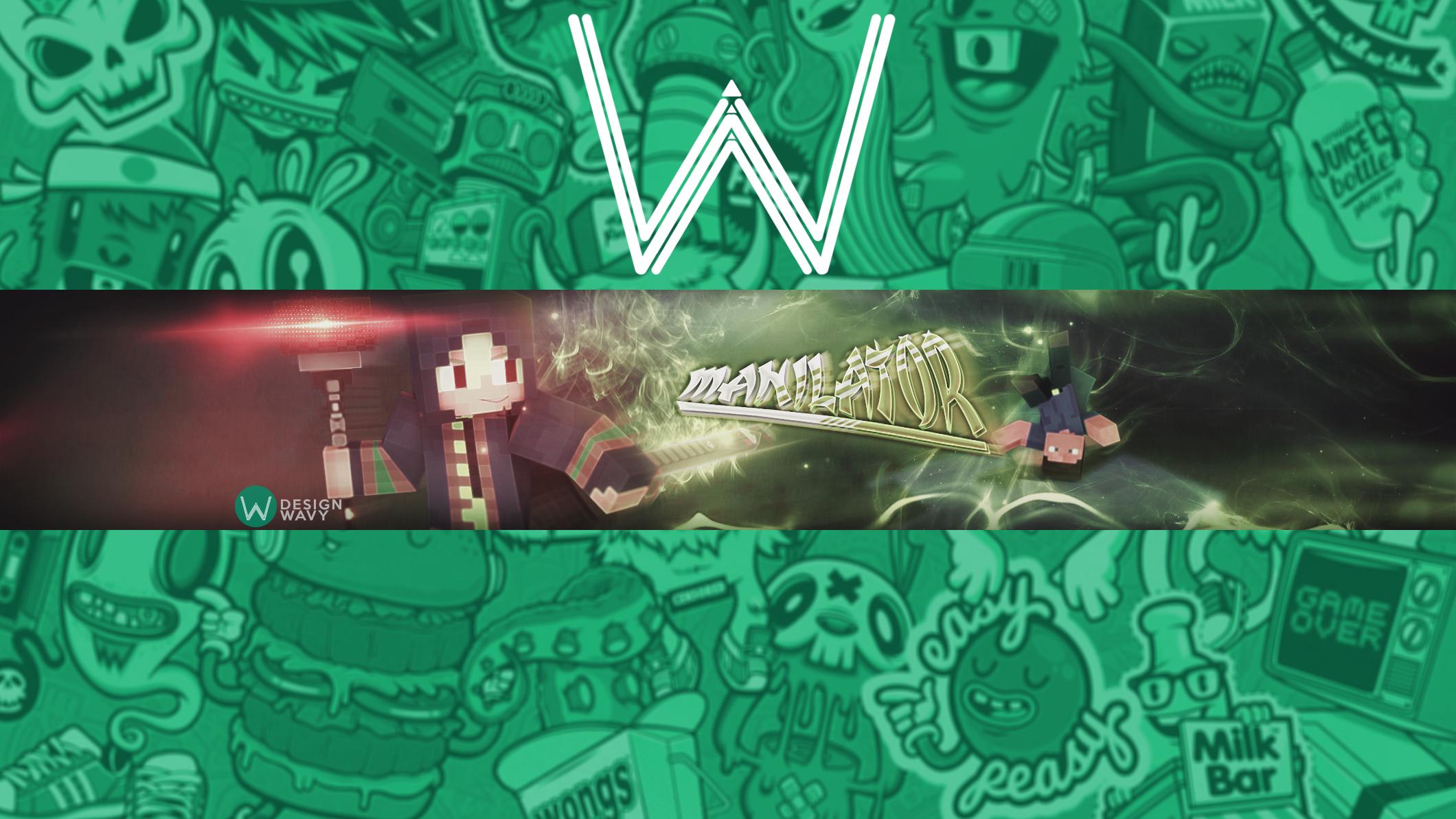 Wallpaper Minecraft Banner Youtube Graphic Design
