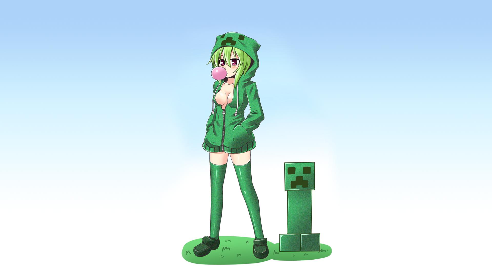 Fond Décran Minecraft Liane Filles Anime Anime