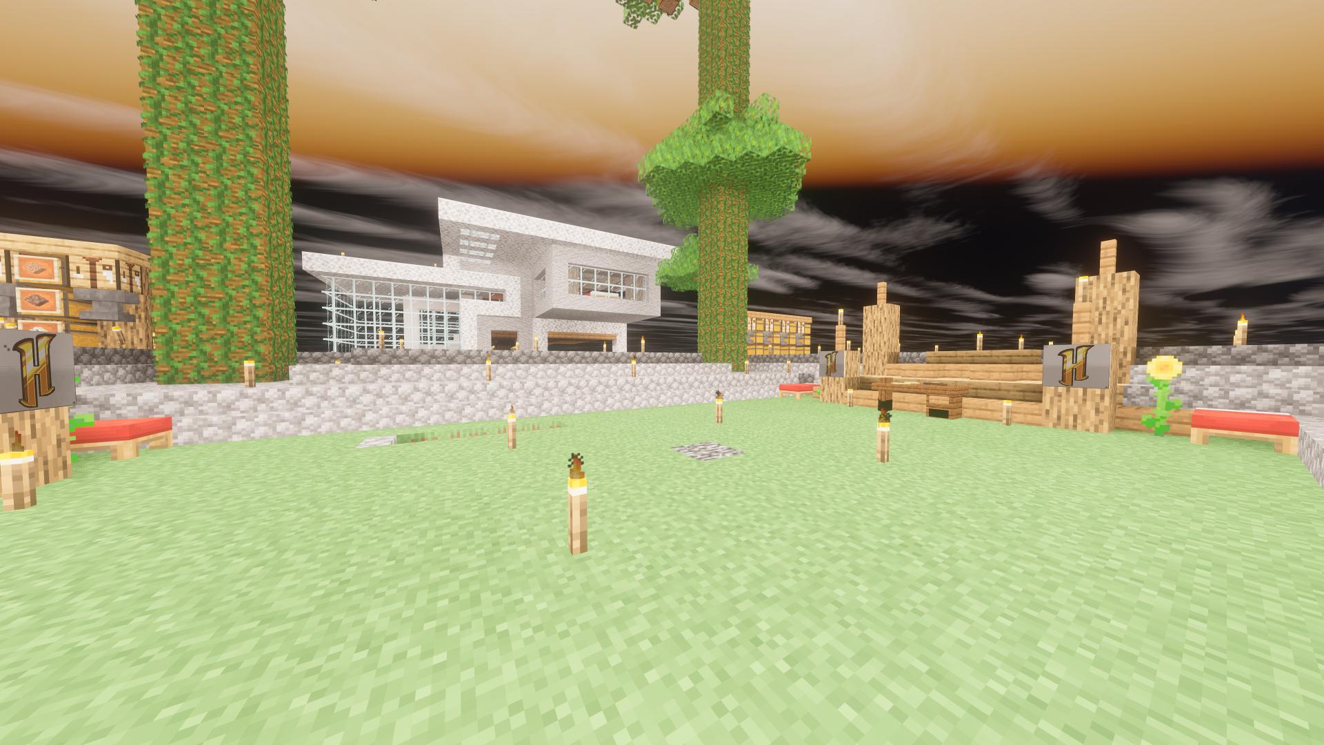 Fond Décran Minecraft Hypixel Skyblock 1920x1080 Badr