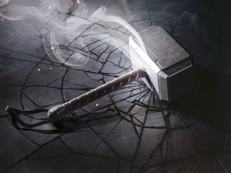 Mjolnir hammer smoke cracked weapon Thor 1787461