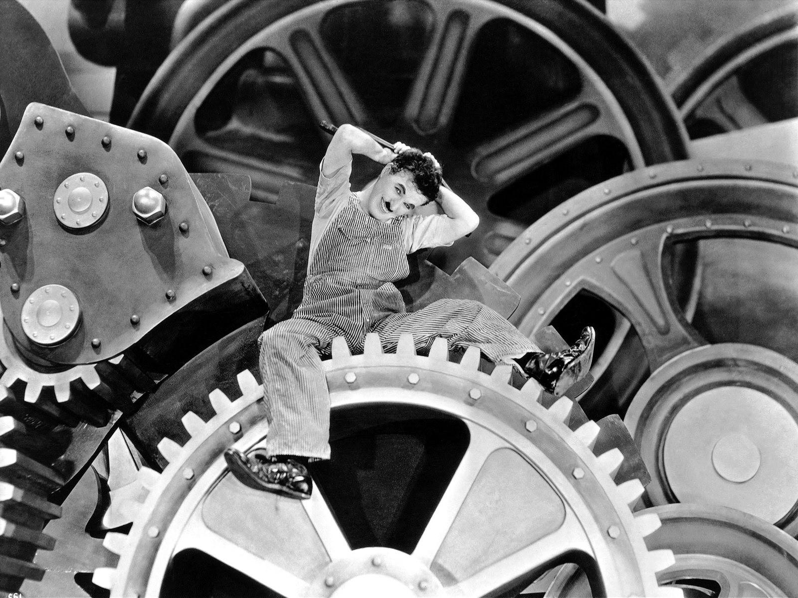 Papel De Parede Tempos Modernos Charles Chaplin Trabalhador