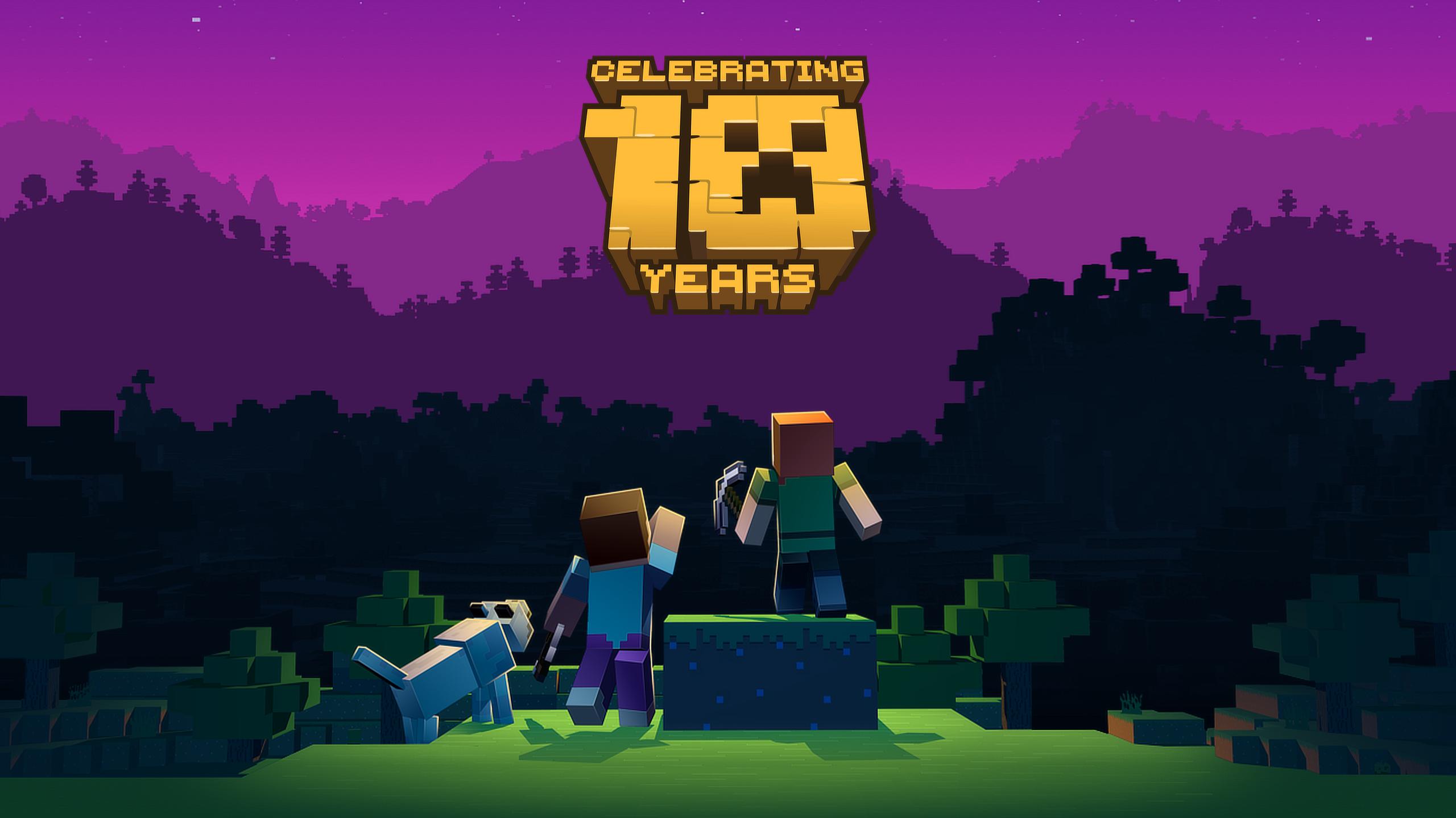 Wallpaper Mojang Video Games Minecraft 2560x1440 蜡笔福报