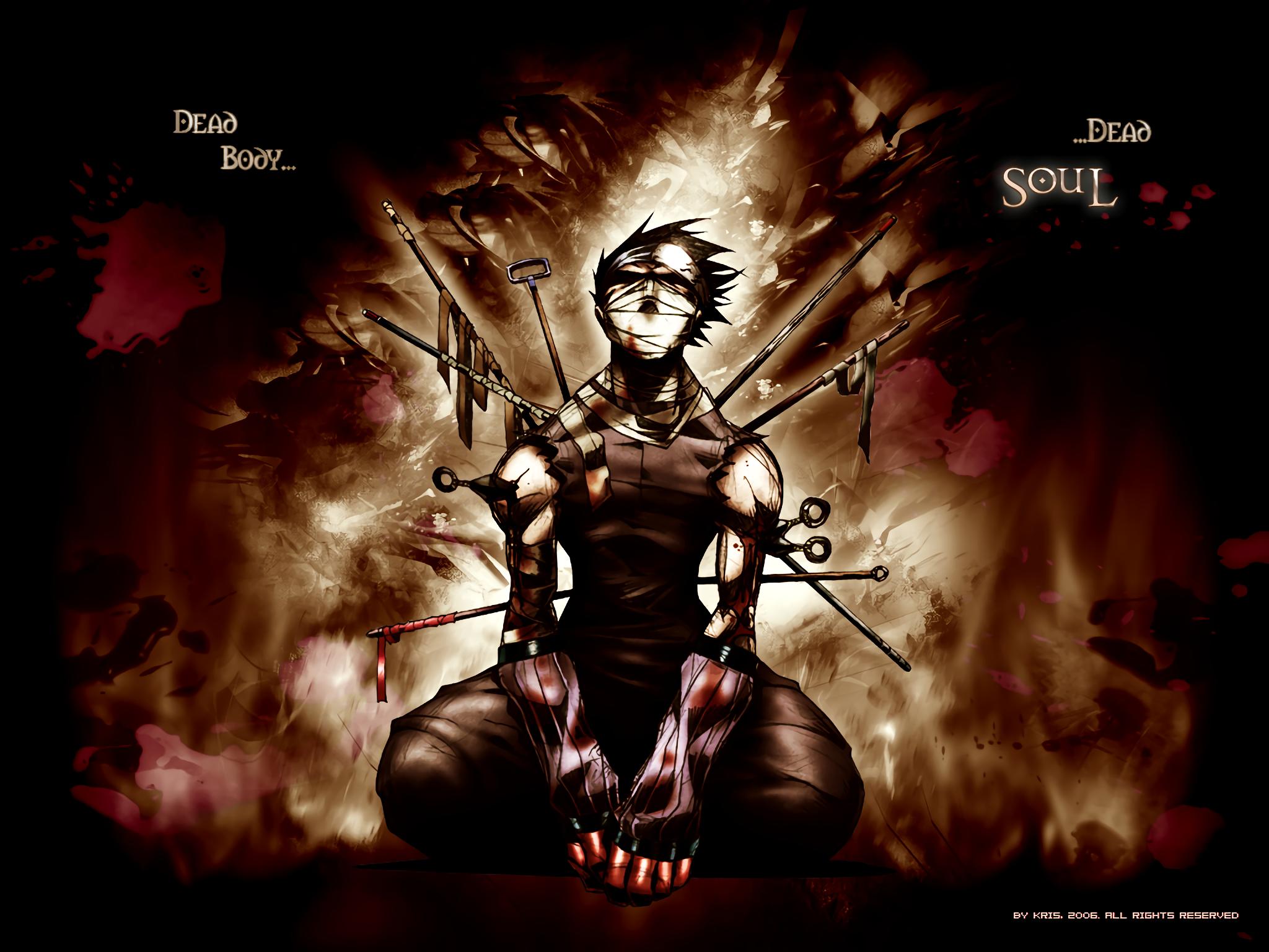 Wallpaper Momochi Zabuza Dark Blood Naruto Anime Dead