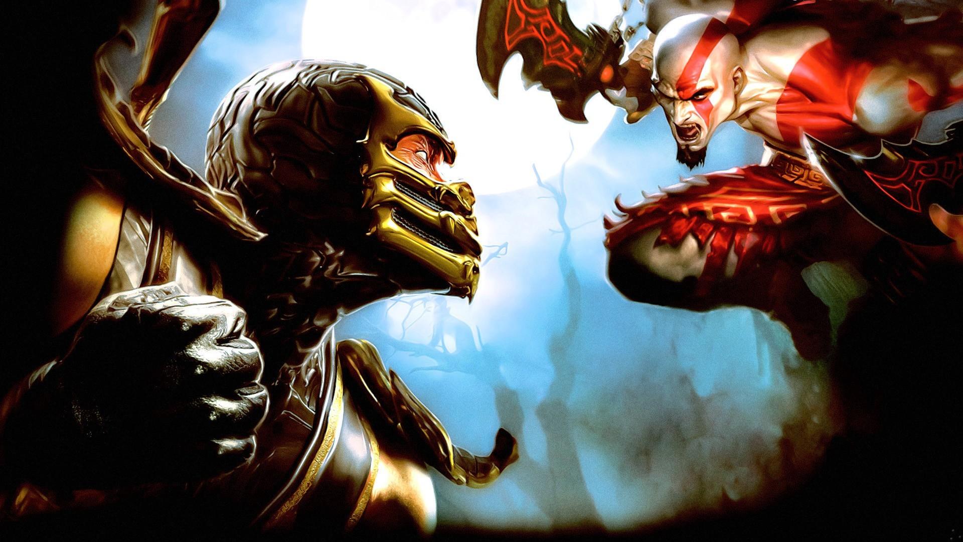Wallpaper : Mortal Kombat, Scorpion character, mythology, God of War