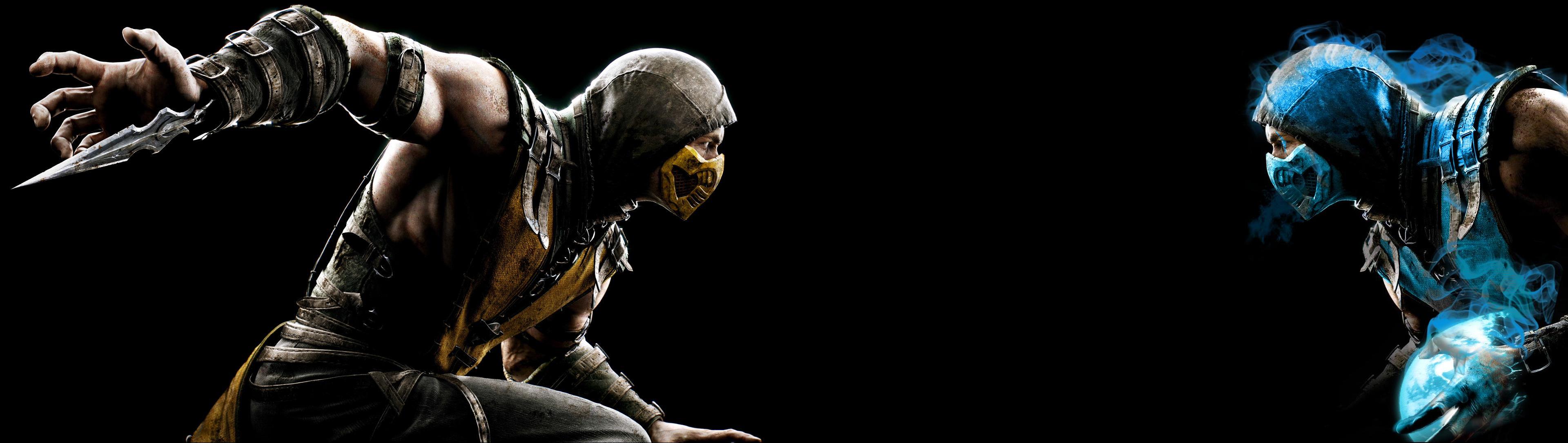 Wallpaper Mortal Kombat X Scorpion Character Sub Zero