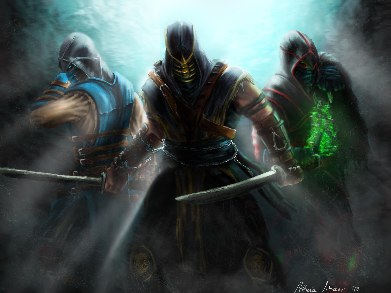 Mortal Kombat Scorpion Sub Zero Ermac Assassins
