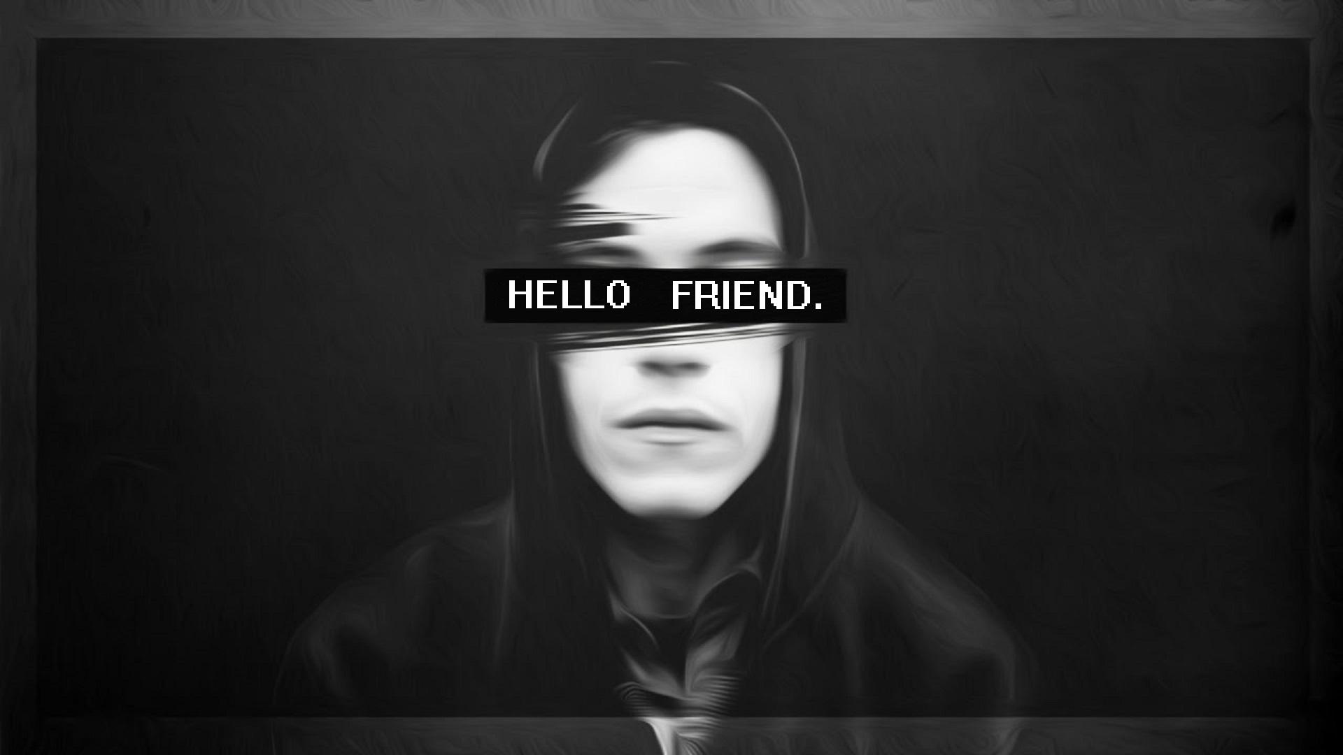 Wallpaper Mr Robot Hello Friend 1920x1080 Techguy007a