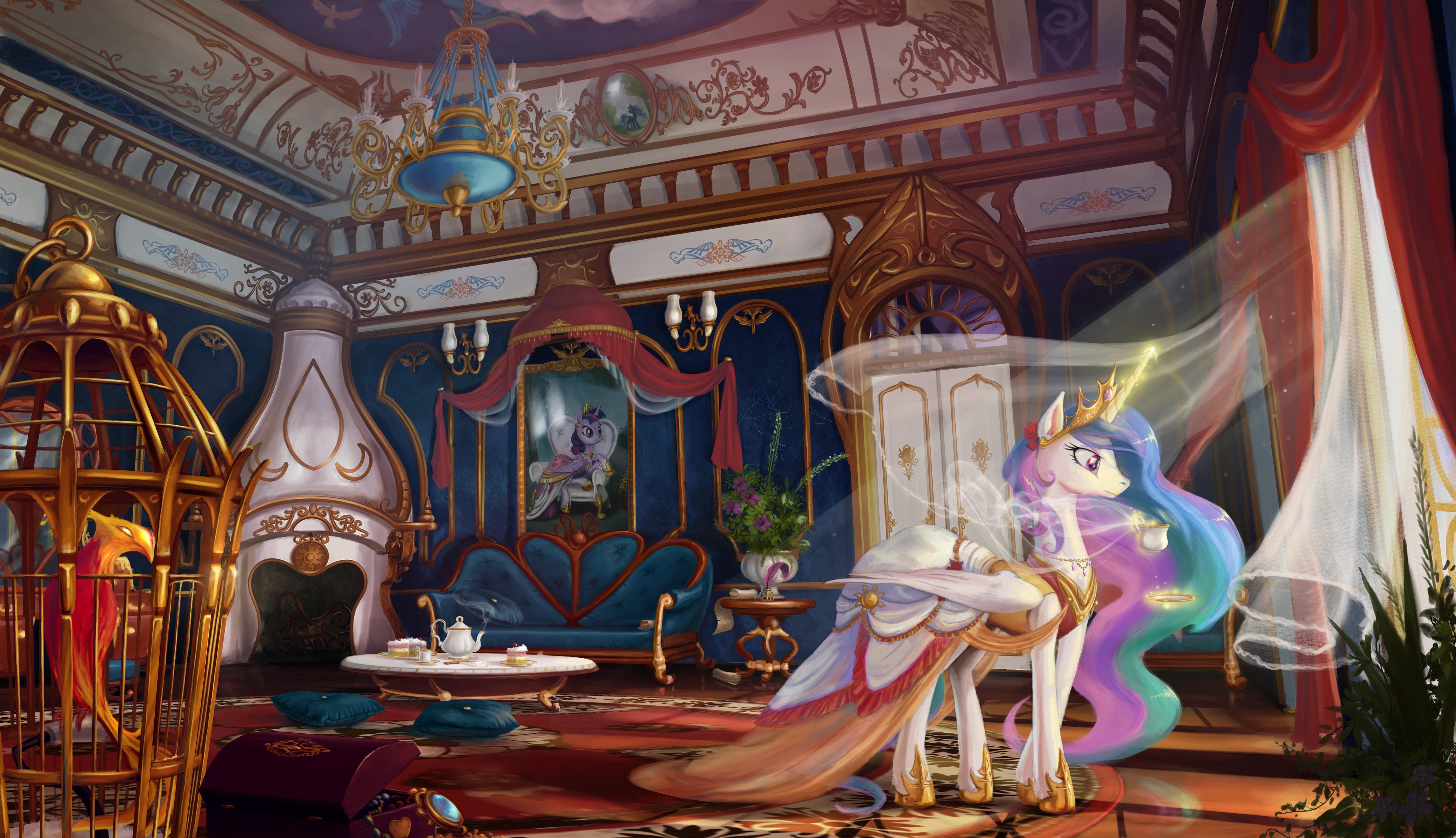 Wallpaper My Little Pony Putri Celestia 5255x3026 Balykkk 1176459 Hd Wallpapers Wallhere