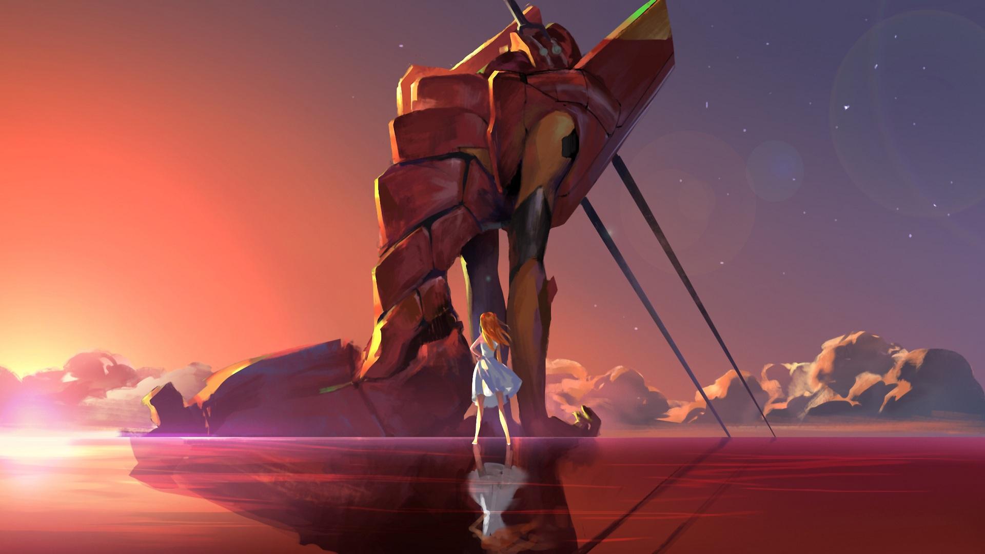 Neon Genesis Evangelion Asuka Langley Soryu EVA 02 Spear Of Longinus