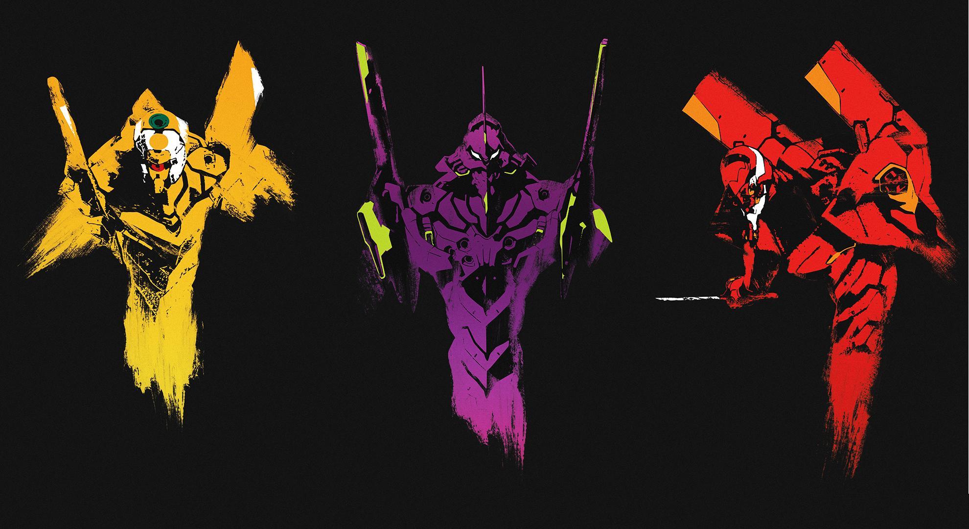 Neon Genesis Evangelion EVA 00 01 02