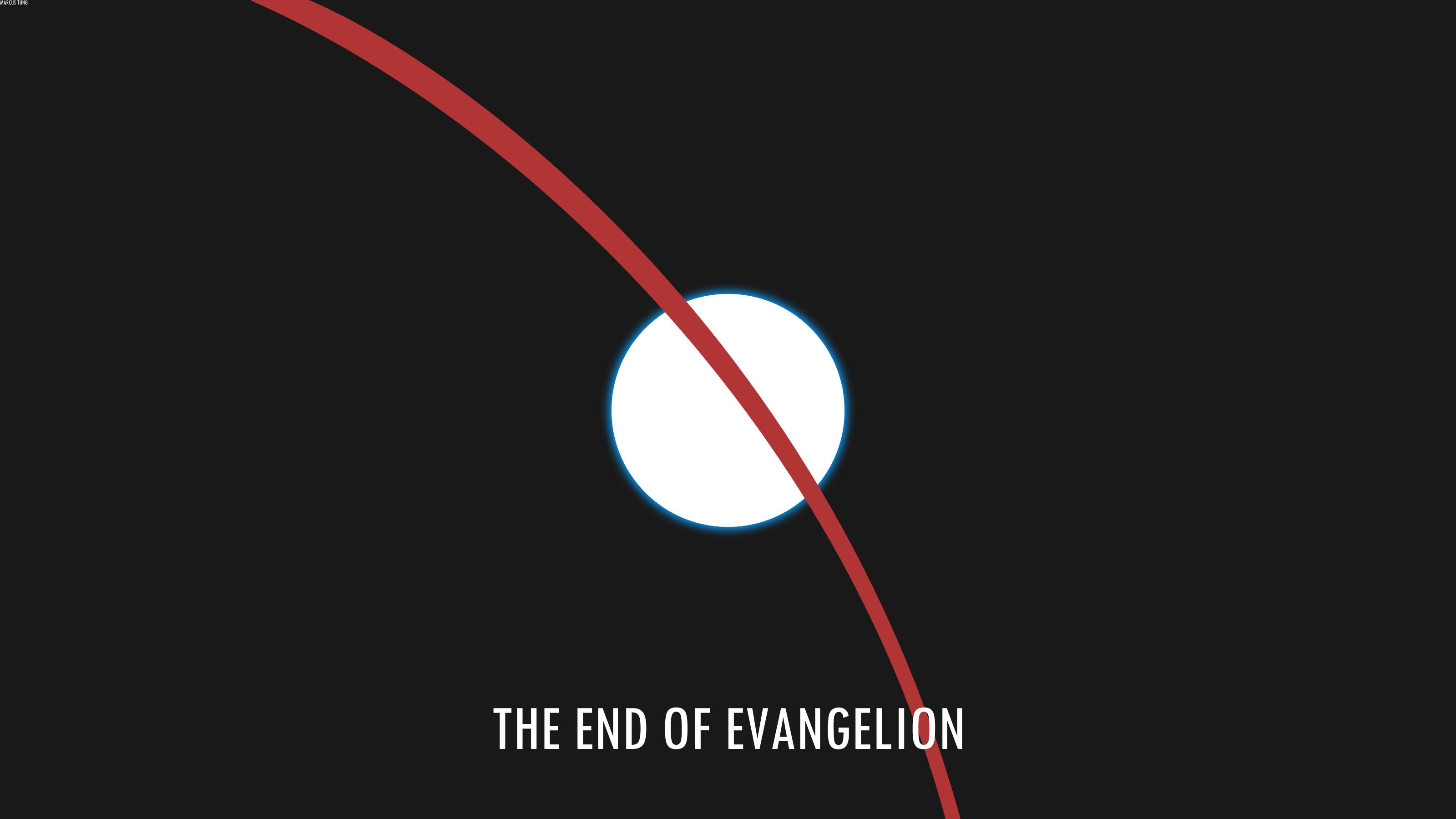 Wallpaper Neon Genesis Evangelion Logo Circle Brand