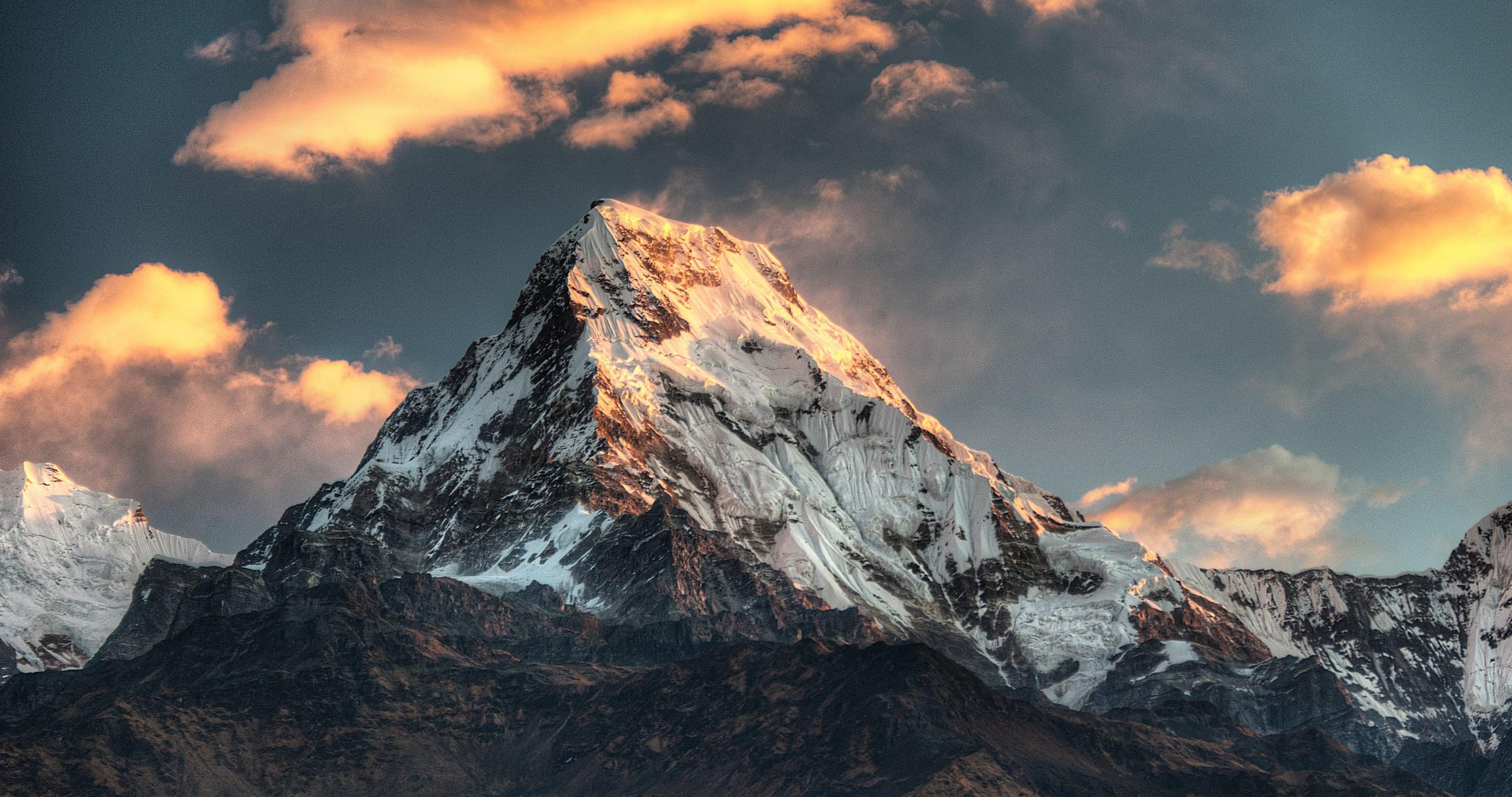 Foto De Papel De Parede Top: Papel De Parede : Nepal, Mountain Top, Natureza 4096x2160