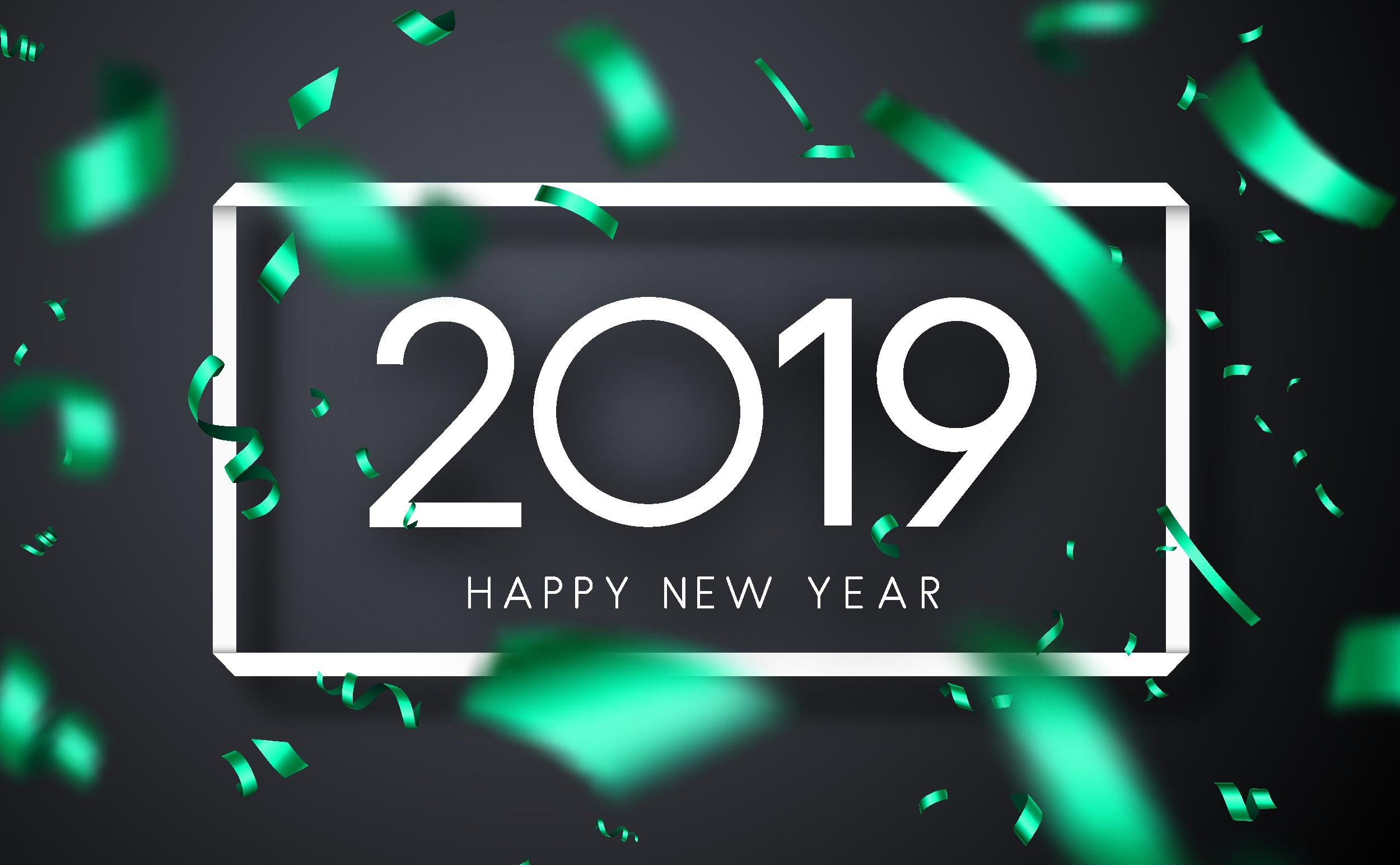 Wallpaper : Tahun Baru, 2019 Year, nomor, Selamat Tahun Baru