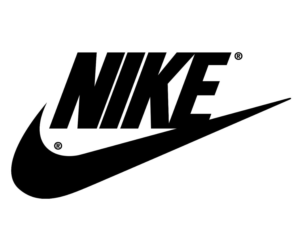 Hintergrundbilder : Nike, Schwarz Weiss, Logo 1280x1024